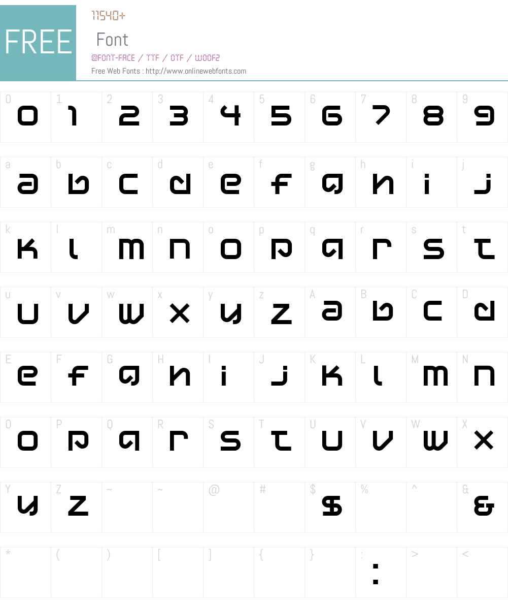 DisplayUncannyW90-Regular Font Screenshots