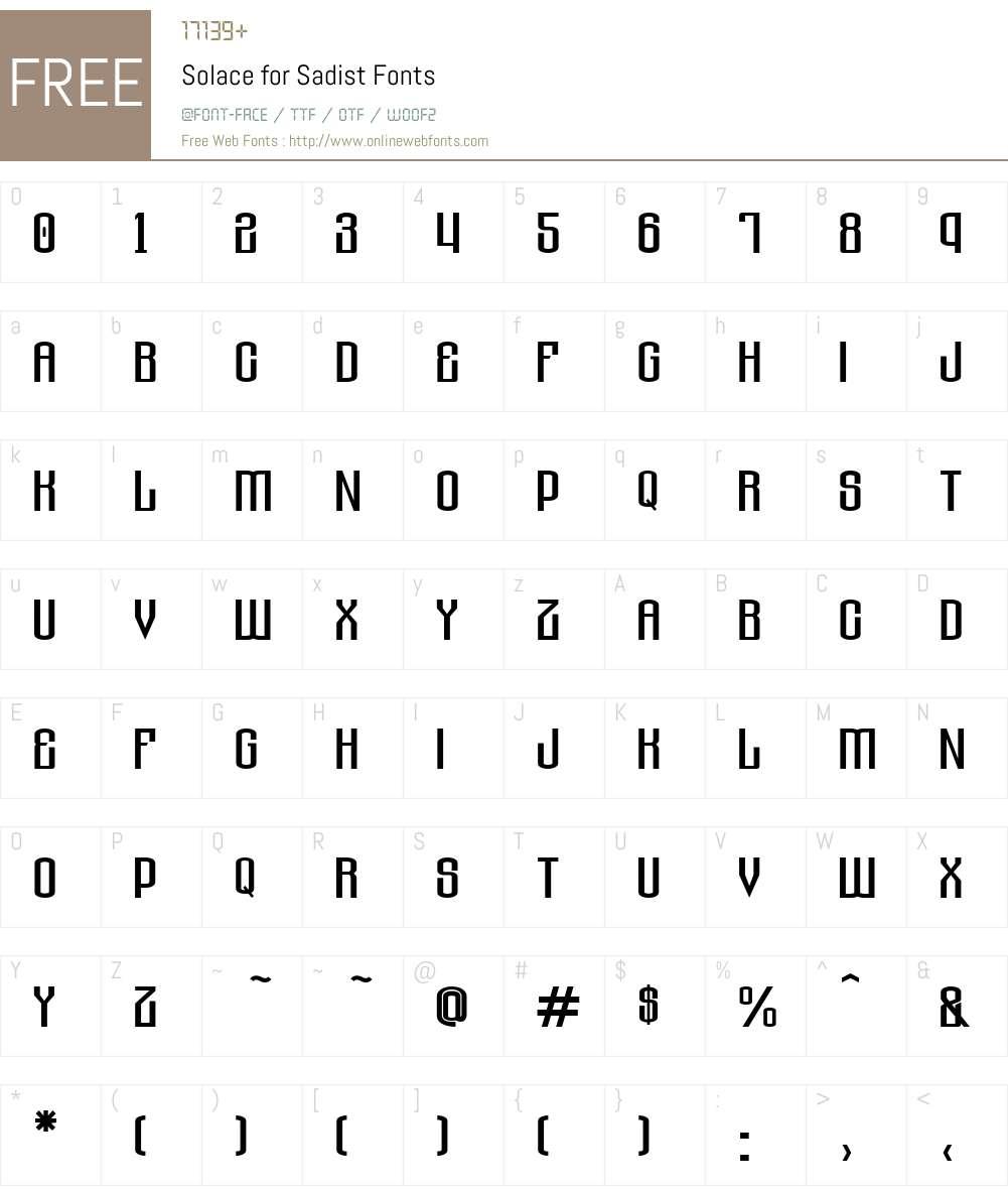 Solace for Sadist Font Screenshots