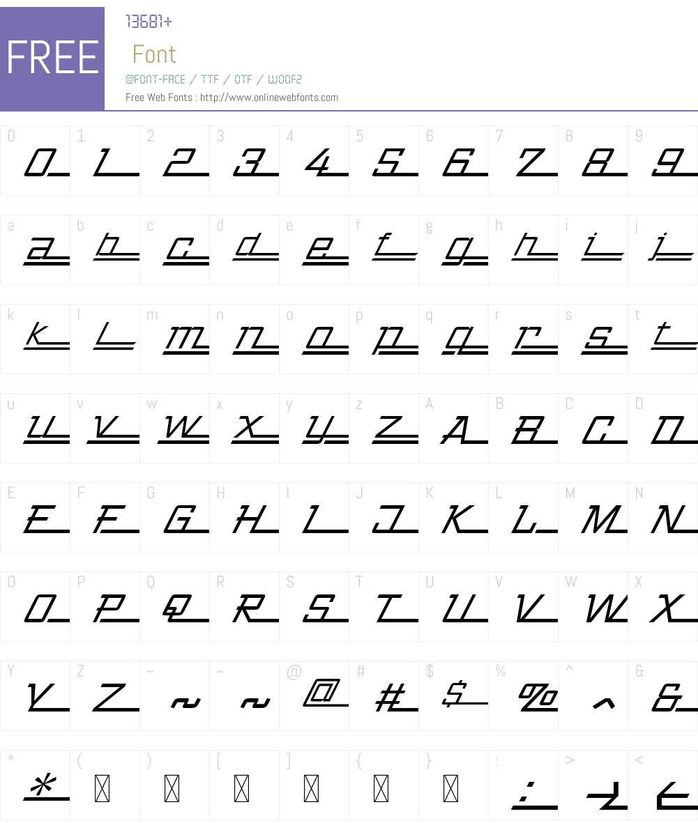 ZingerW00-Italic Font Screenshots