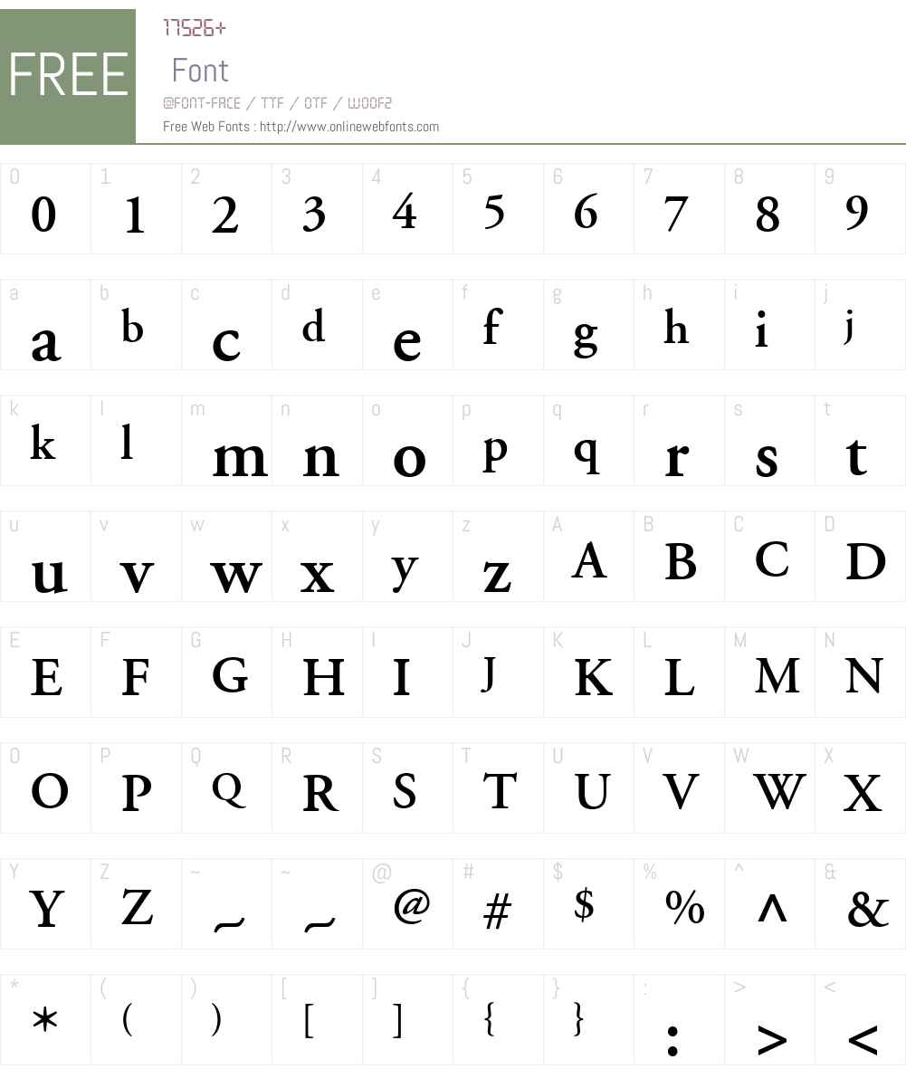 AGaramond LT Font Screenshots