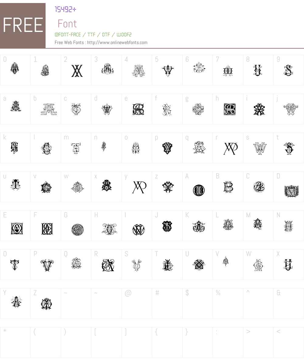 Intellecta Monograms Random Samples Nine Font Screenshots