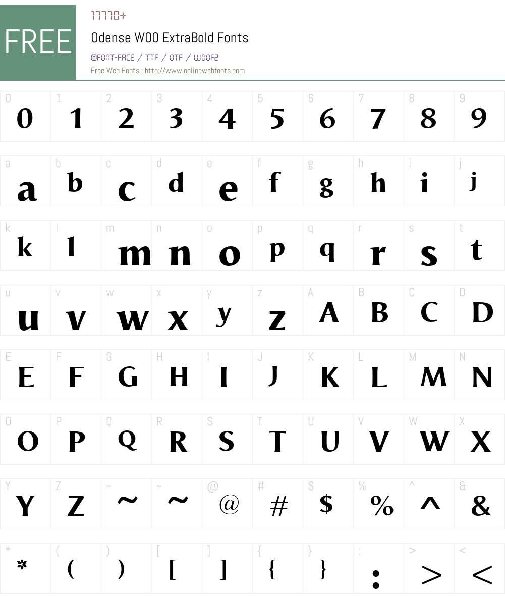 OdenseW00-ExtraBold Font Screenshots