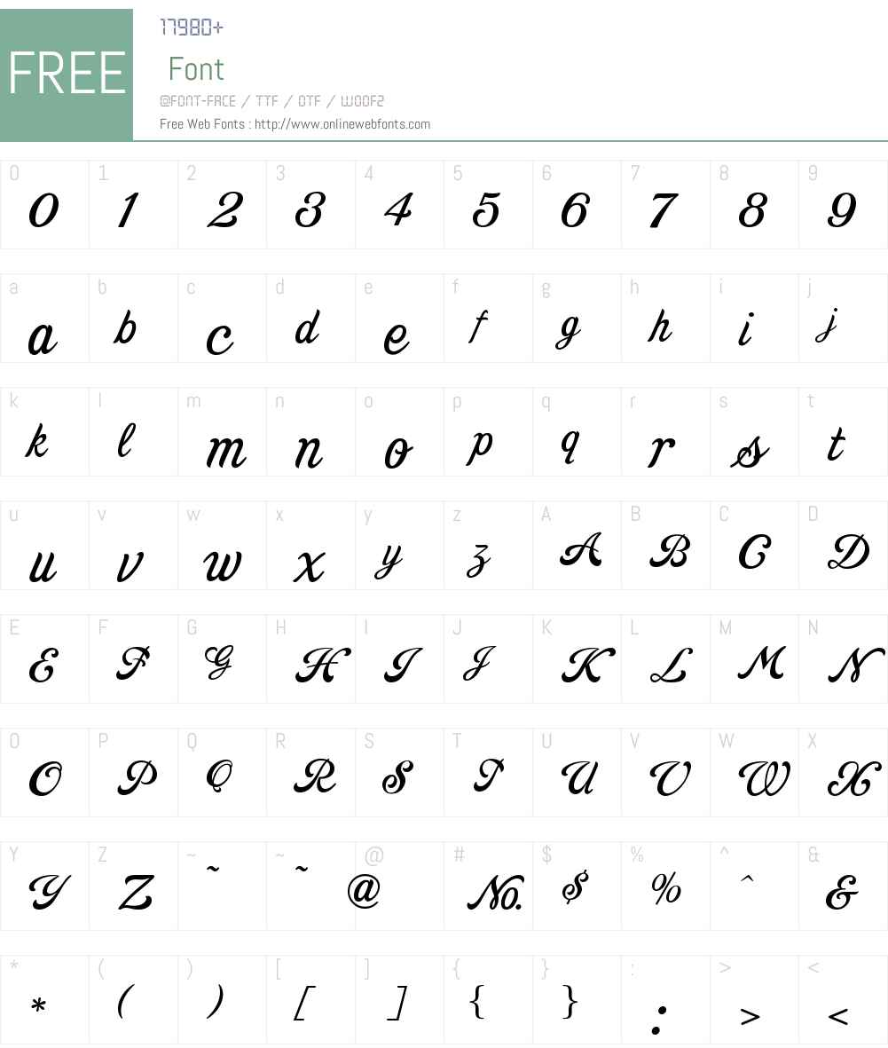 Goldsmith ScriptLHF Font Screenshots