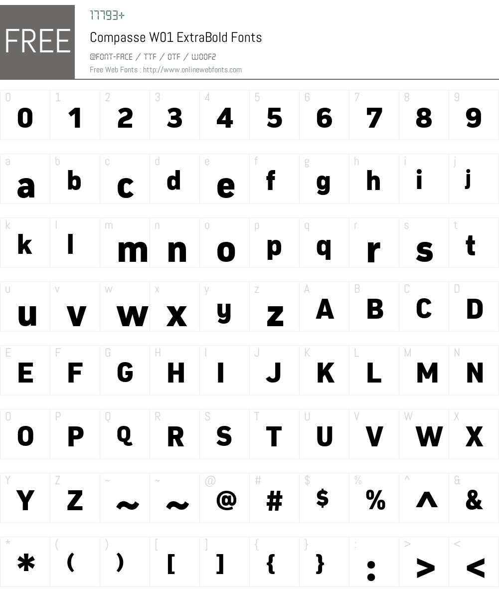 CompasseW01-ExtraBold Font Screenshots