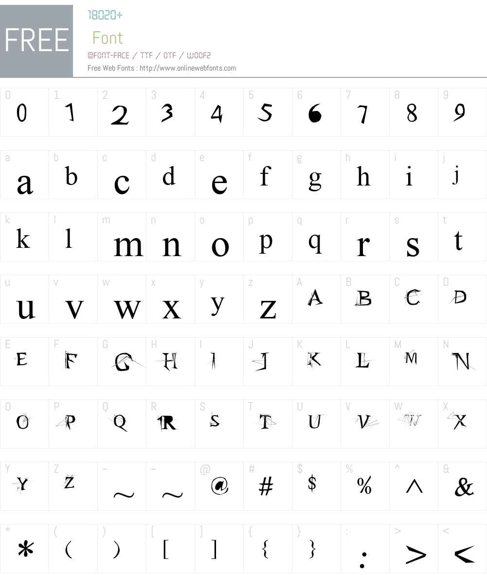 Times New Roman Font Screenshots