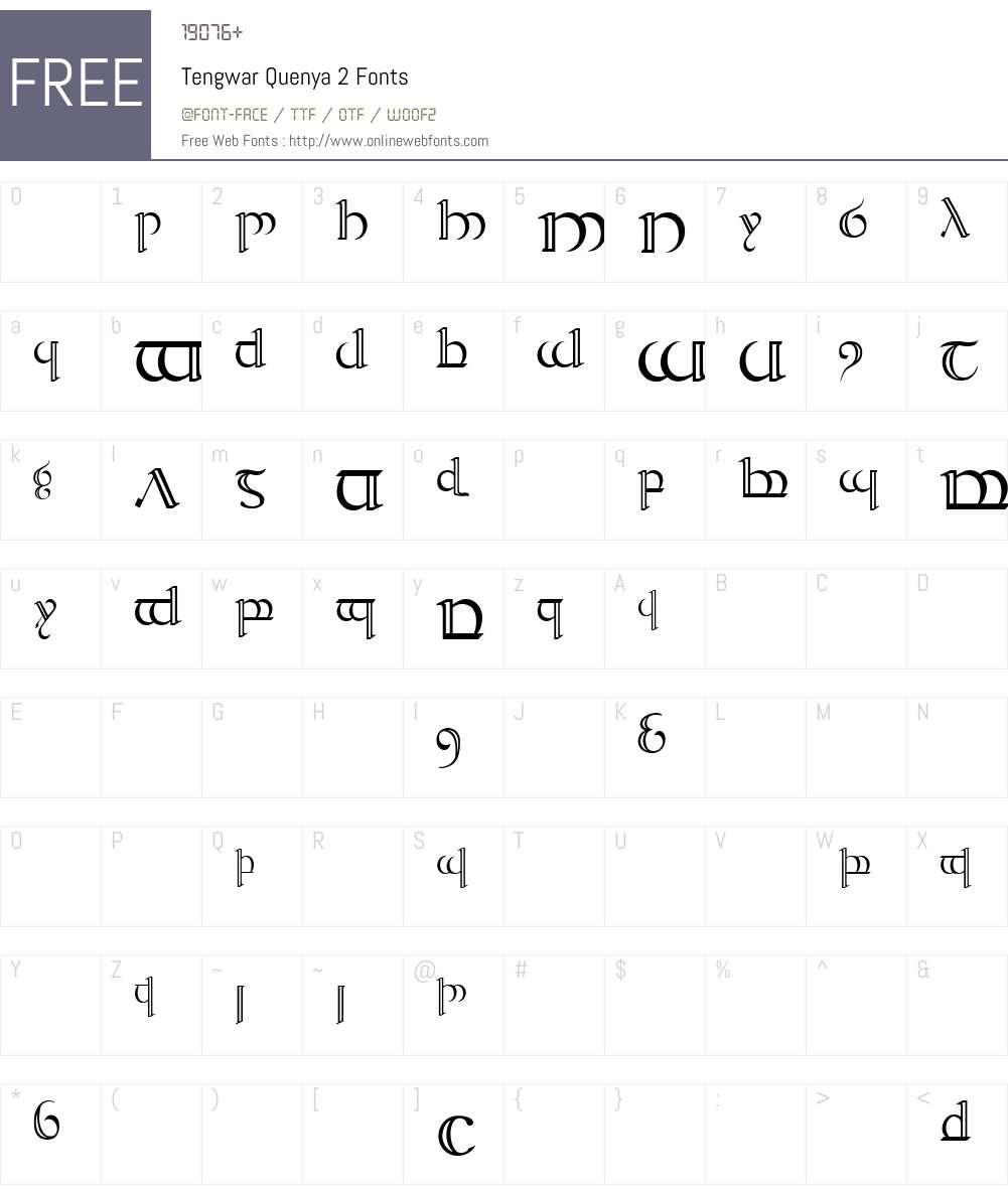 Tengwar Quenya-2 Font Screenshots