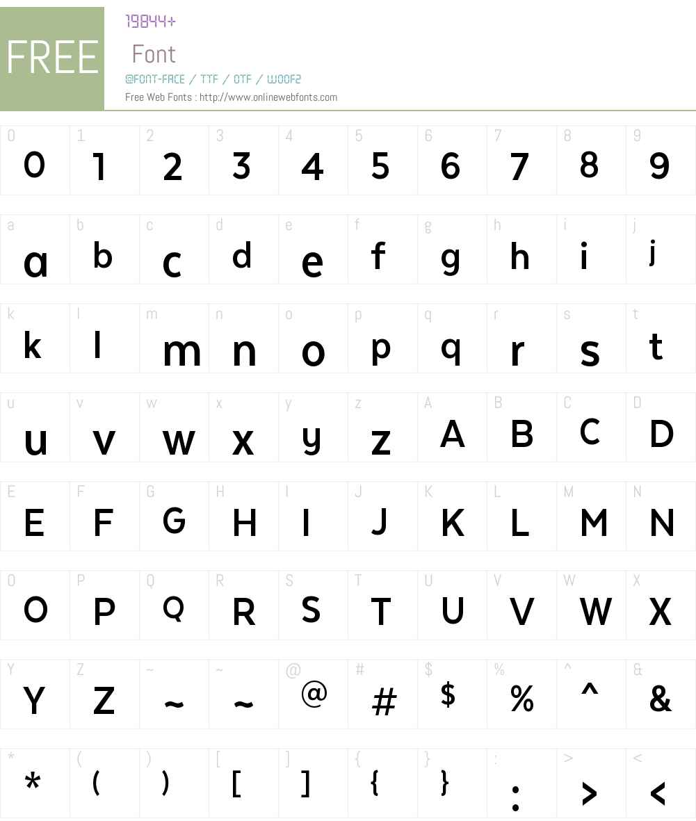TextaNarrowAltW00-Bold Font Screenshots