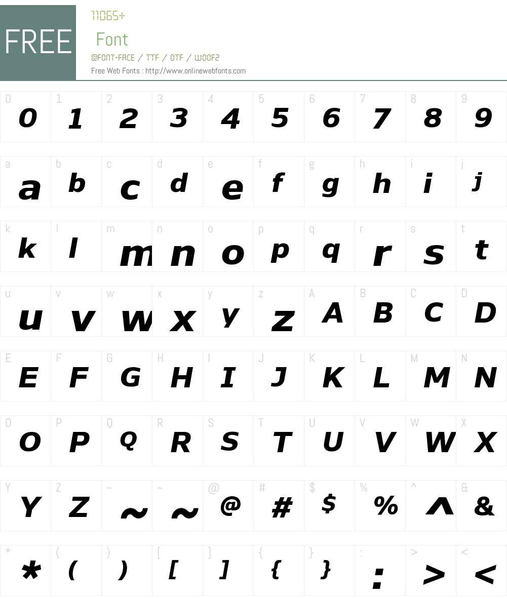 NaumanW00-ExtraBoldItalic Font Screenshots