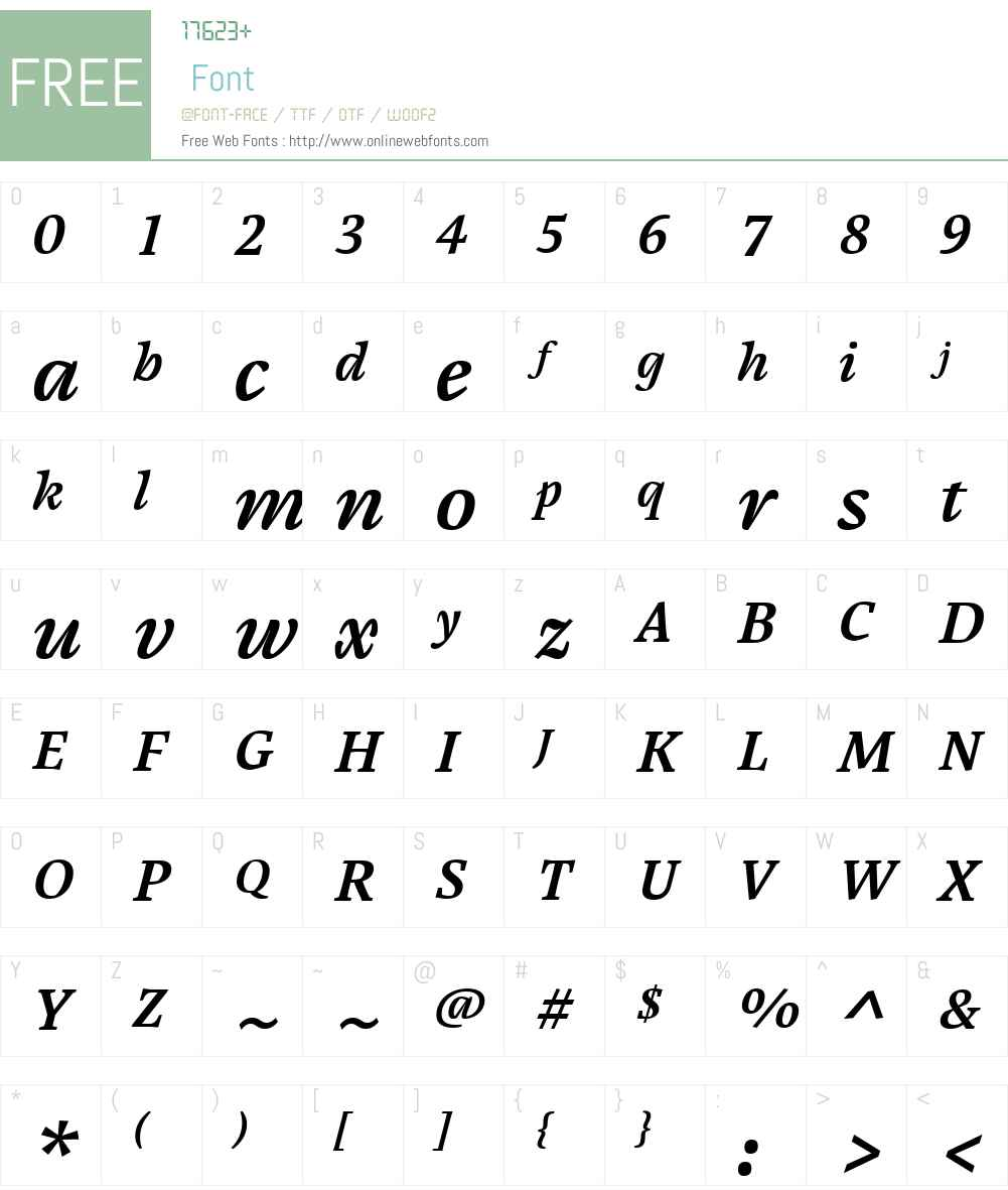 Cardamon Font Screenshots