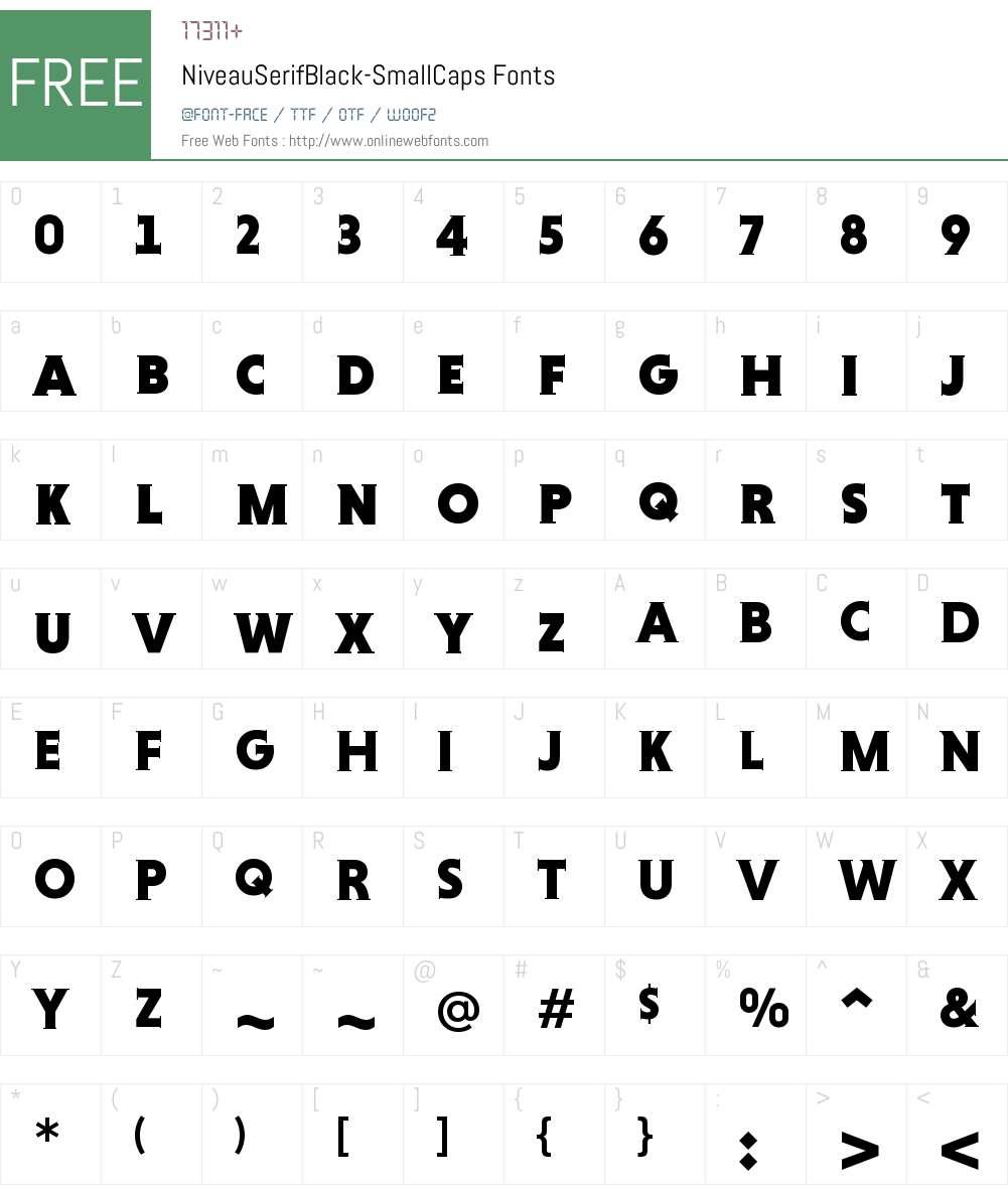 Niveau Serif Black SC Font Screenshots