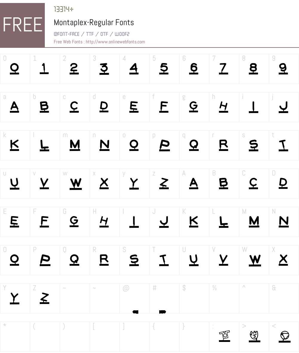 Montaplex Font Screenshots