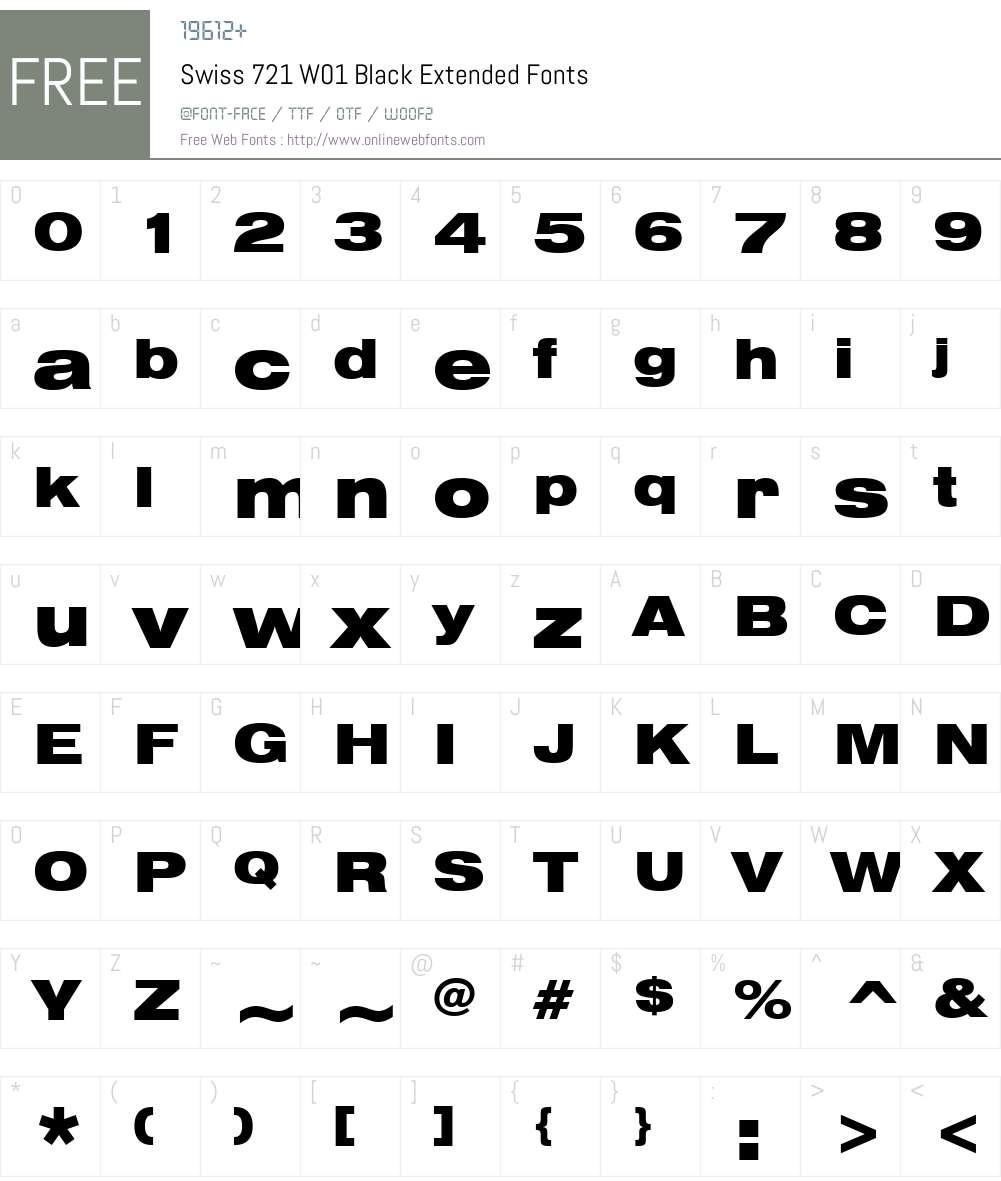 Swiss721W01-BlackExtended Font Screenshots