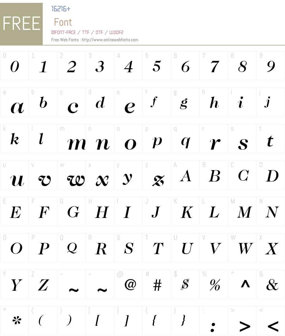 ITCCaslon224W01-MediumIt Font Screenshots