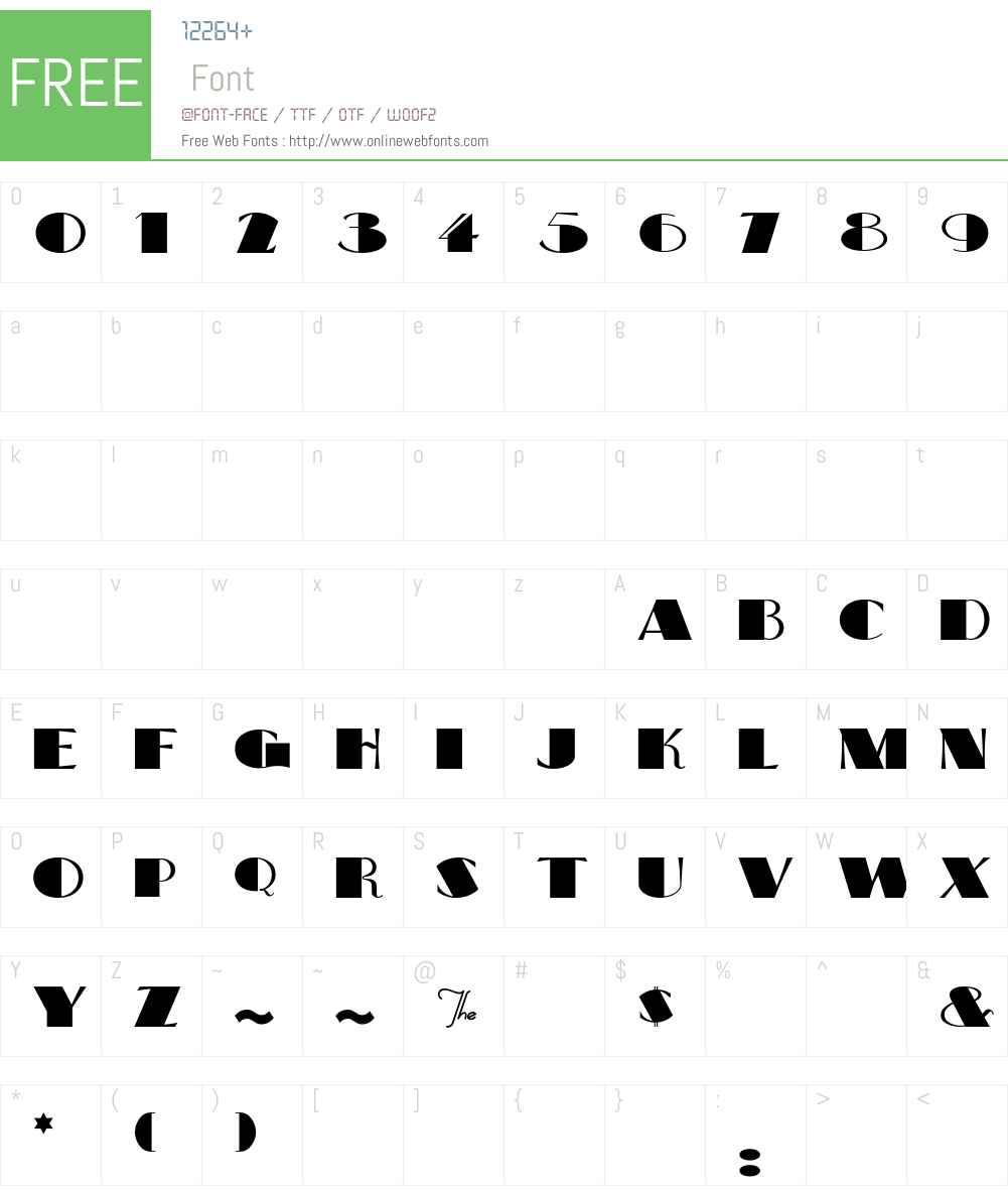 BigApple Font Screenshots