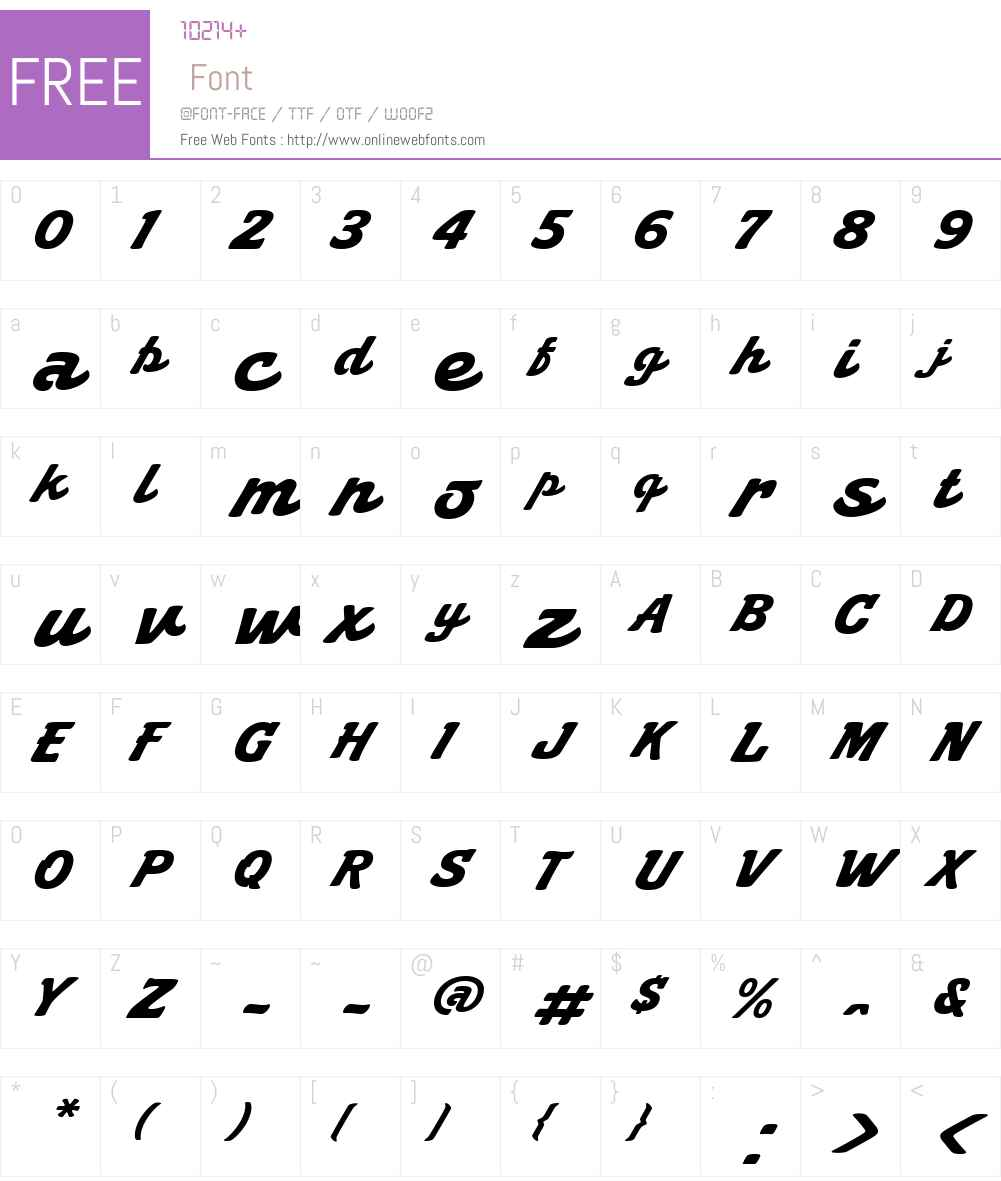 Kilo Font Screenshots