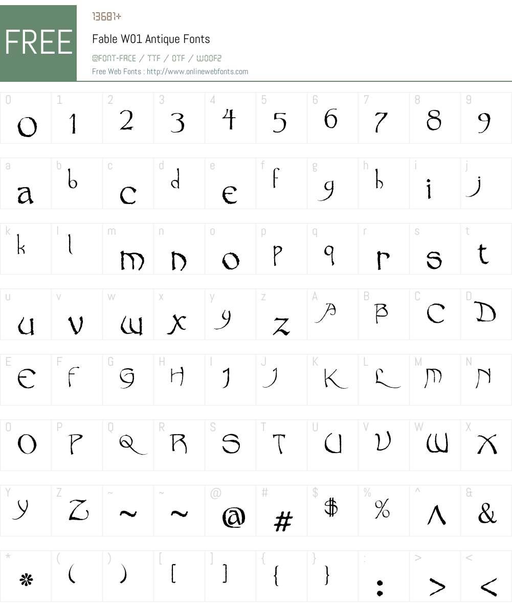 FableW01-Antique Font Screenshots