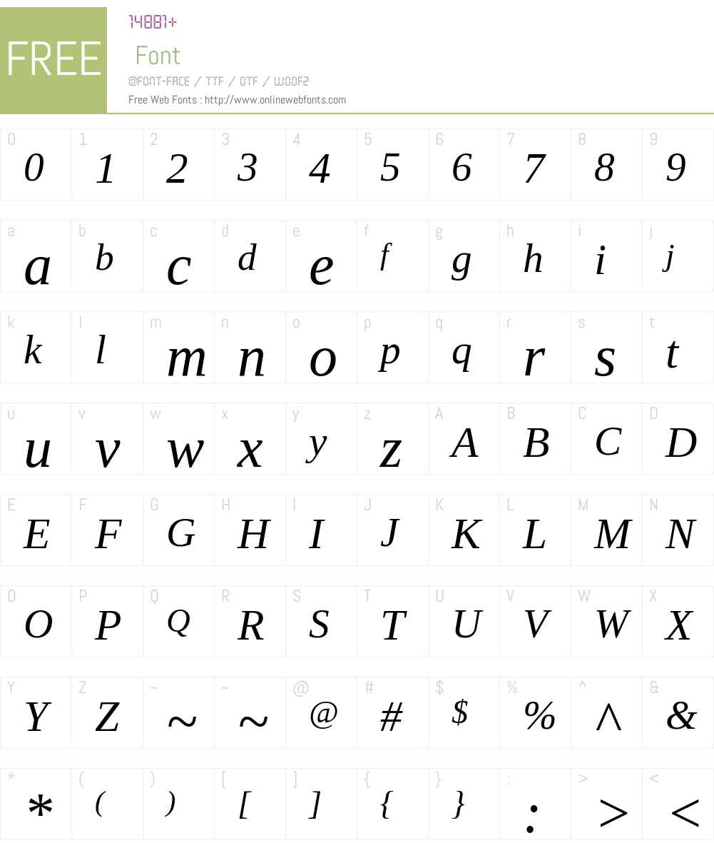 Ascender Serif Font Screenshots