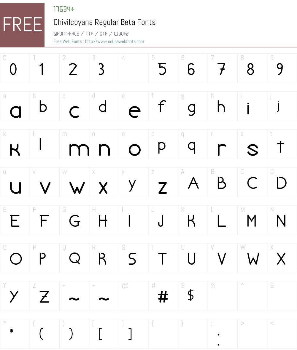 Chivilcoyana Regular Beta Font Screenshots
