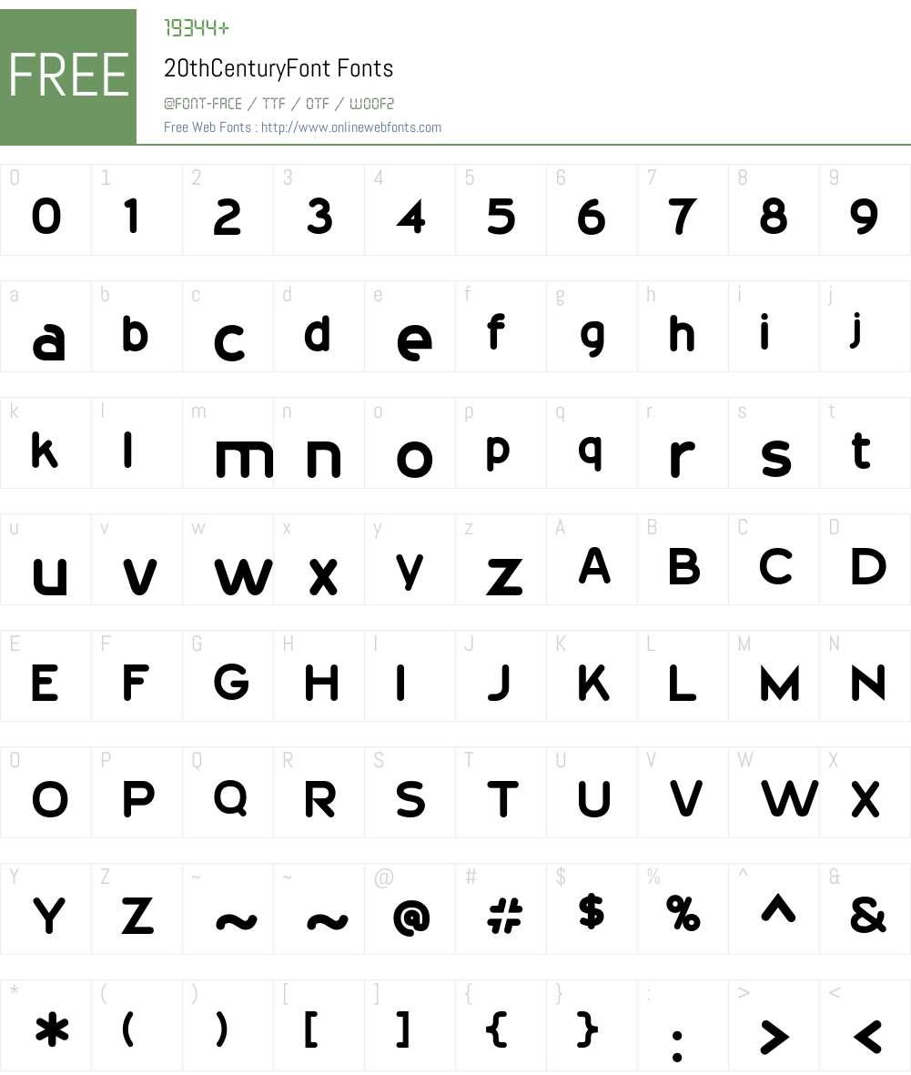 20thCenturyFont Font Screenshots