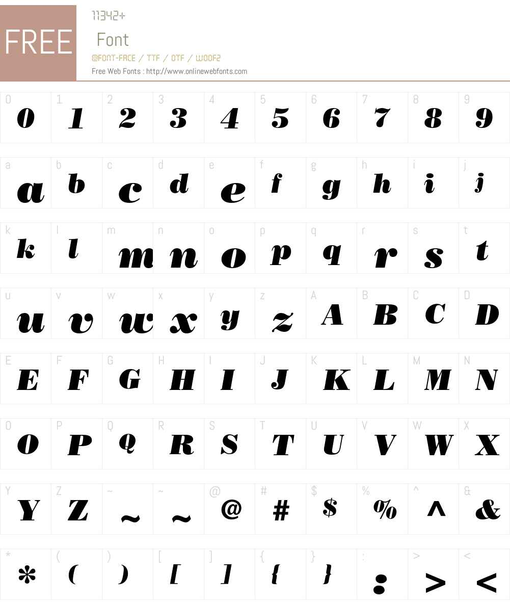 Bodoni LT Font Screenshots