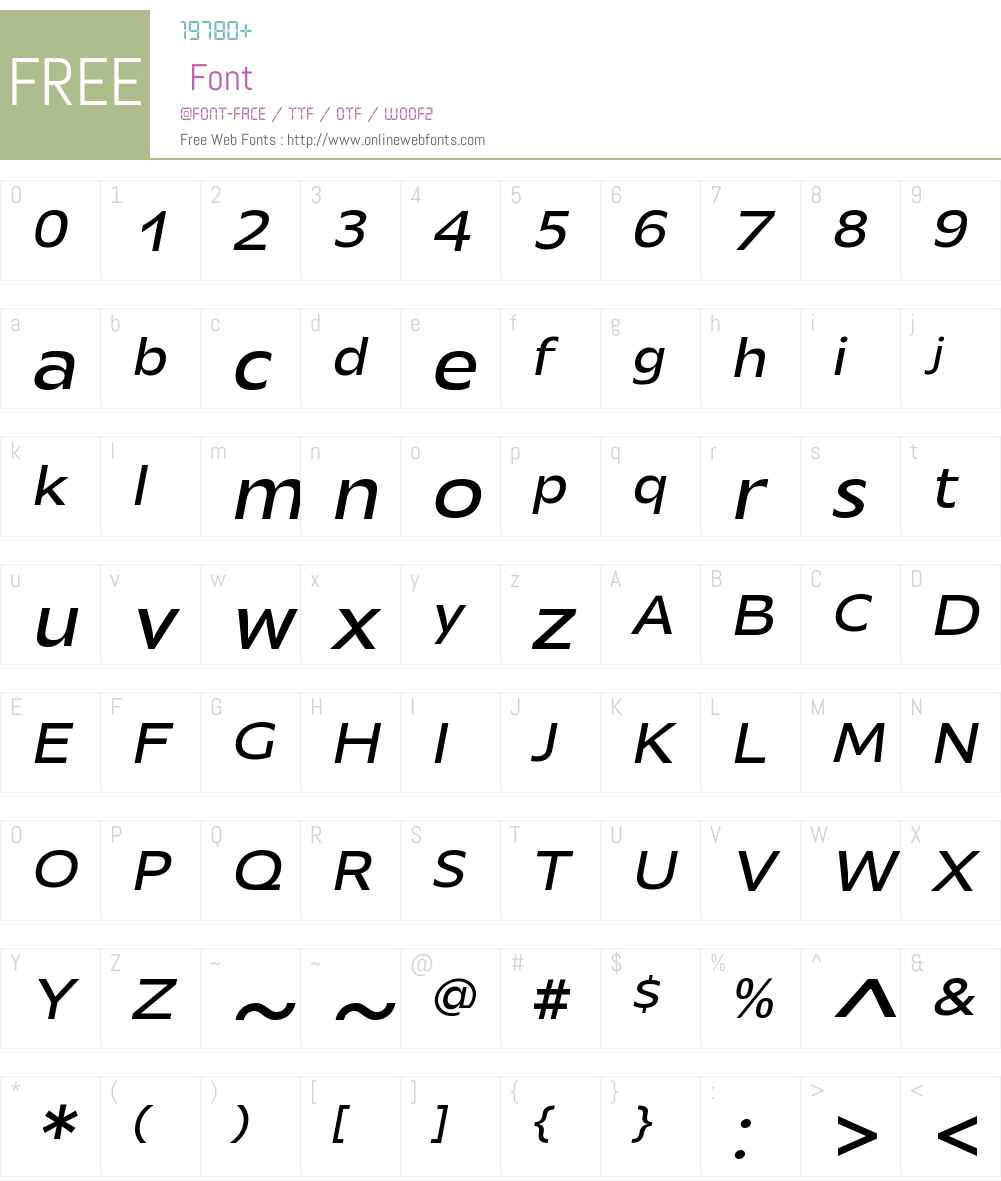 MensaExpandedW01-RegularIt Font Screenshots