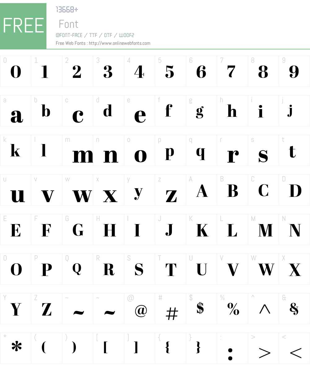 AbrilW01-DisplayXBold Font Screenshots