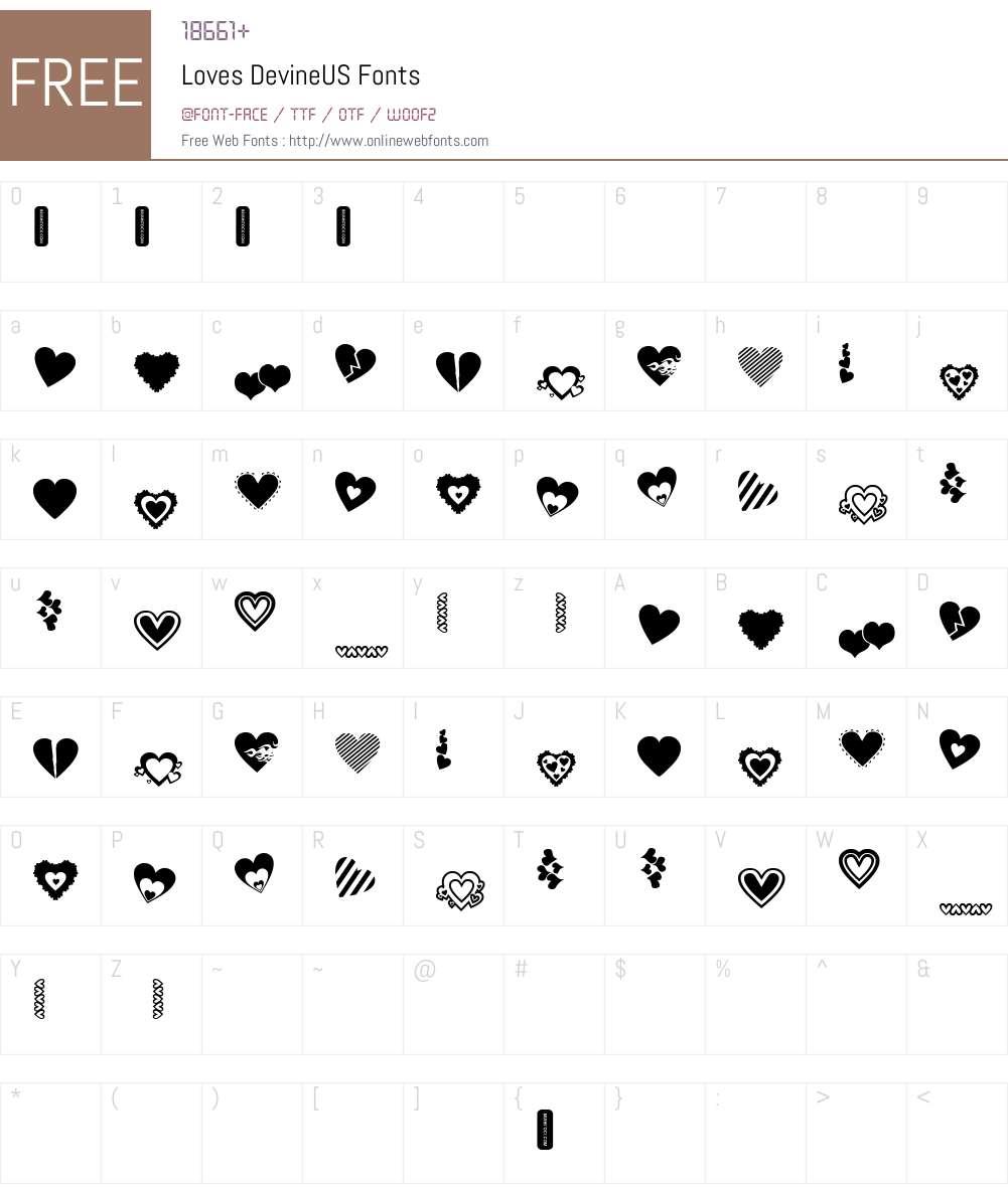 Loves DevineUS Font Screenshots