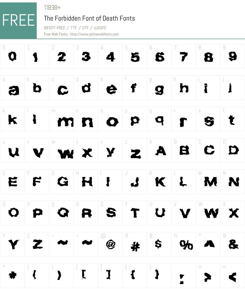 Forbidden Font Screenshots