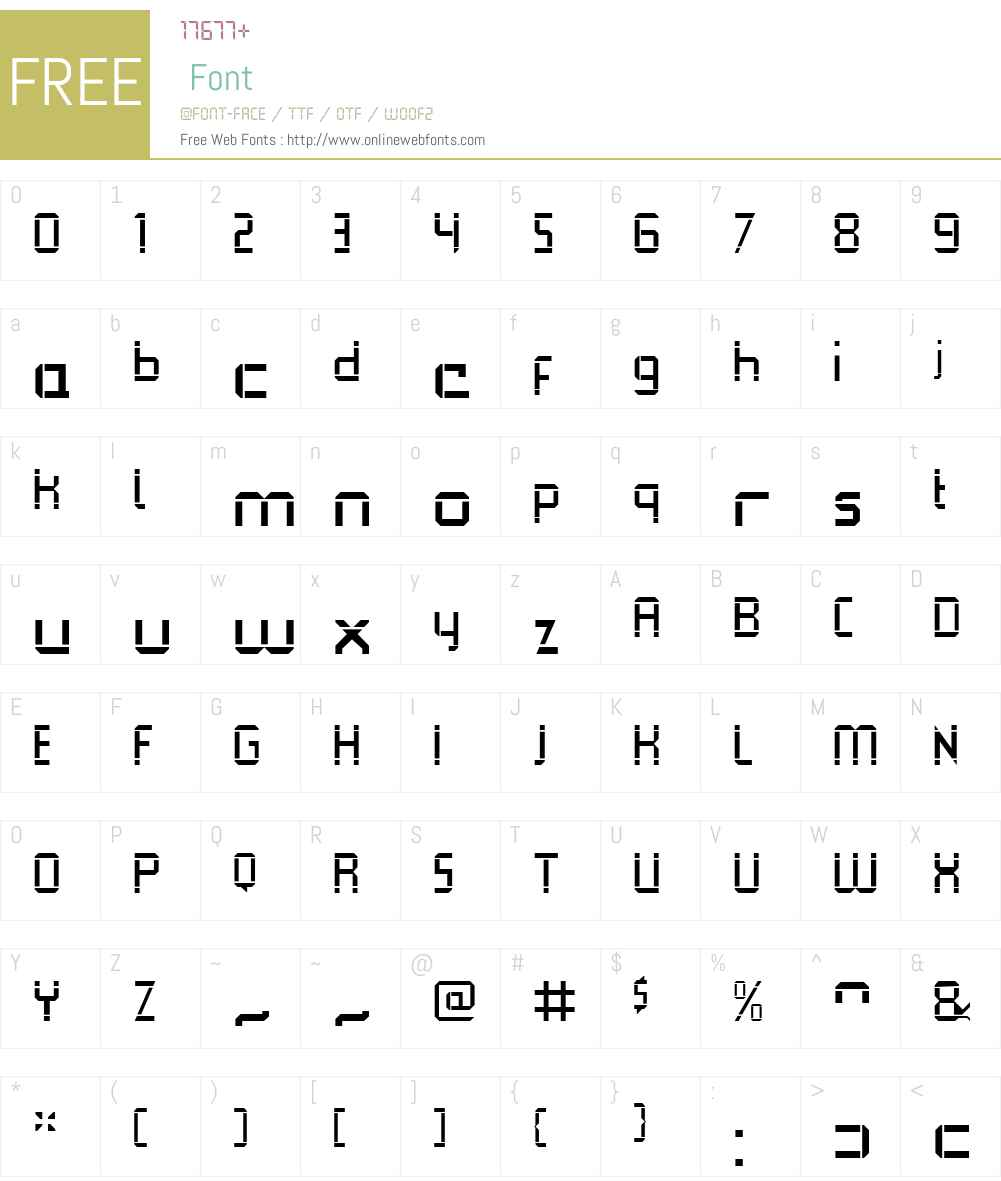 QueueBrickOpenW00-Regular Font Screenshots