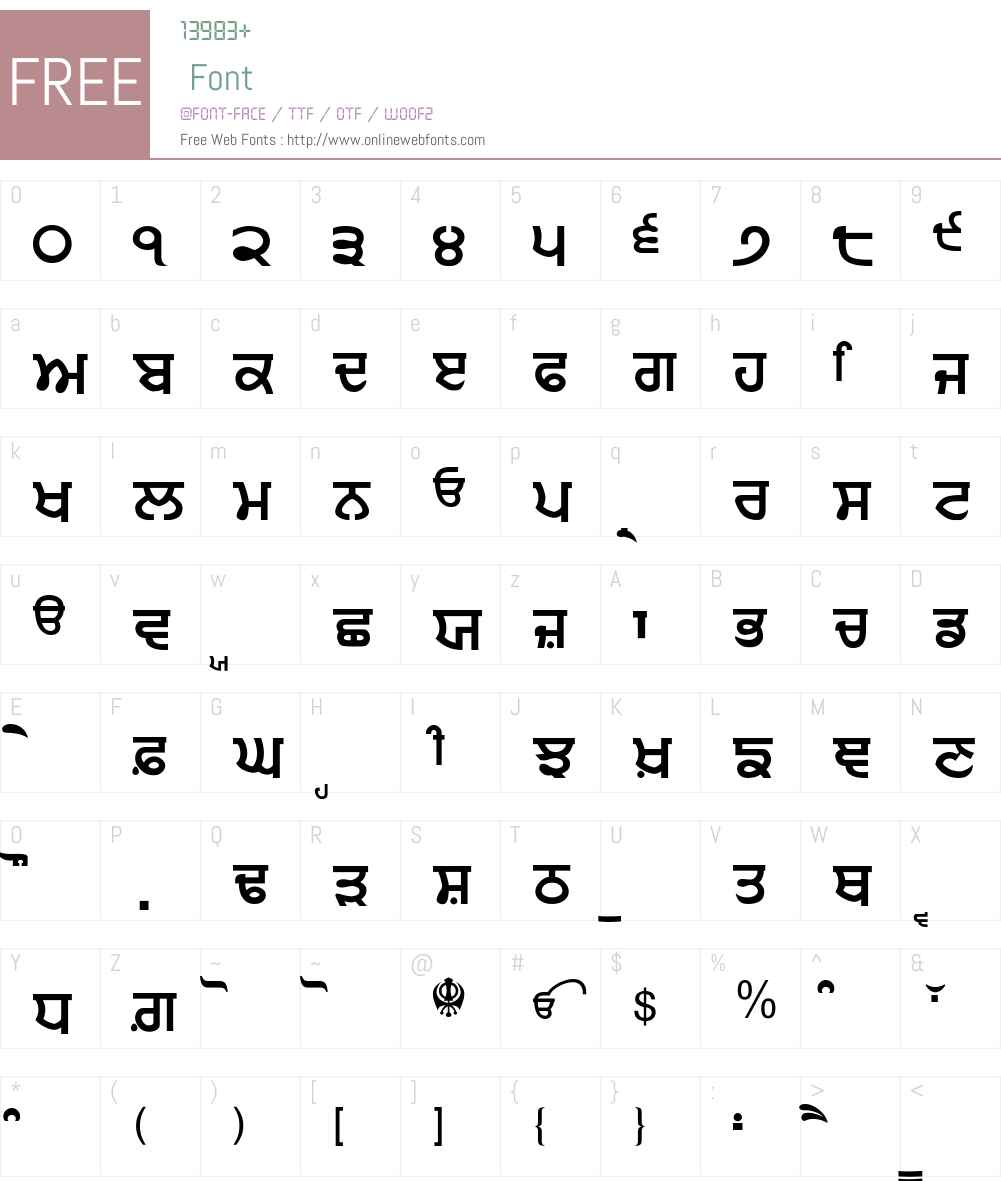Punjabi Sans Font Screenshots