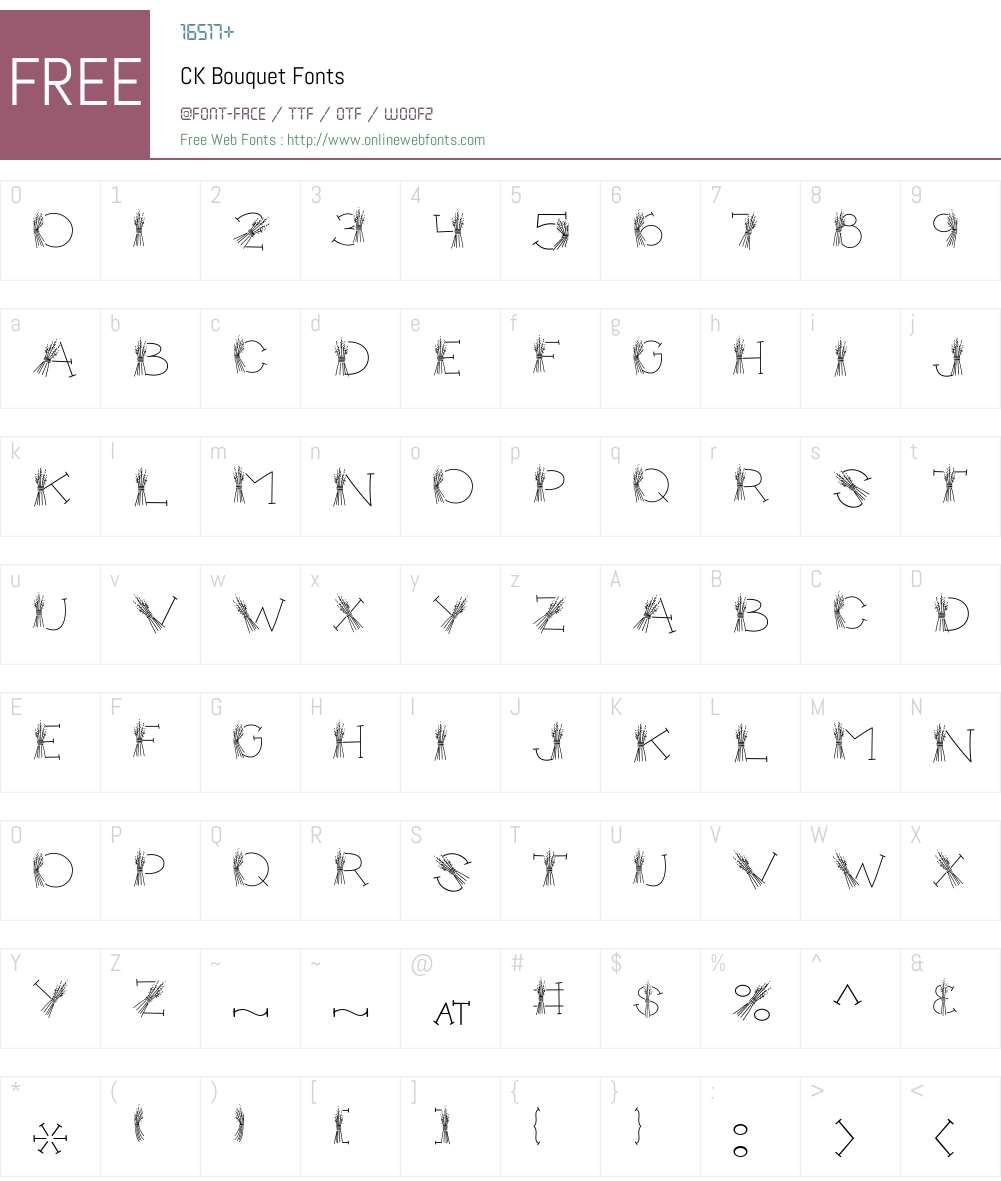 CK Bouquet Font Screenshots
