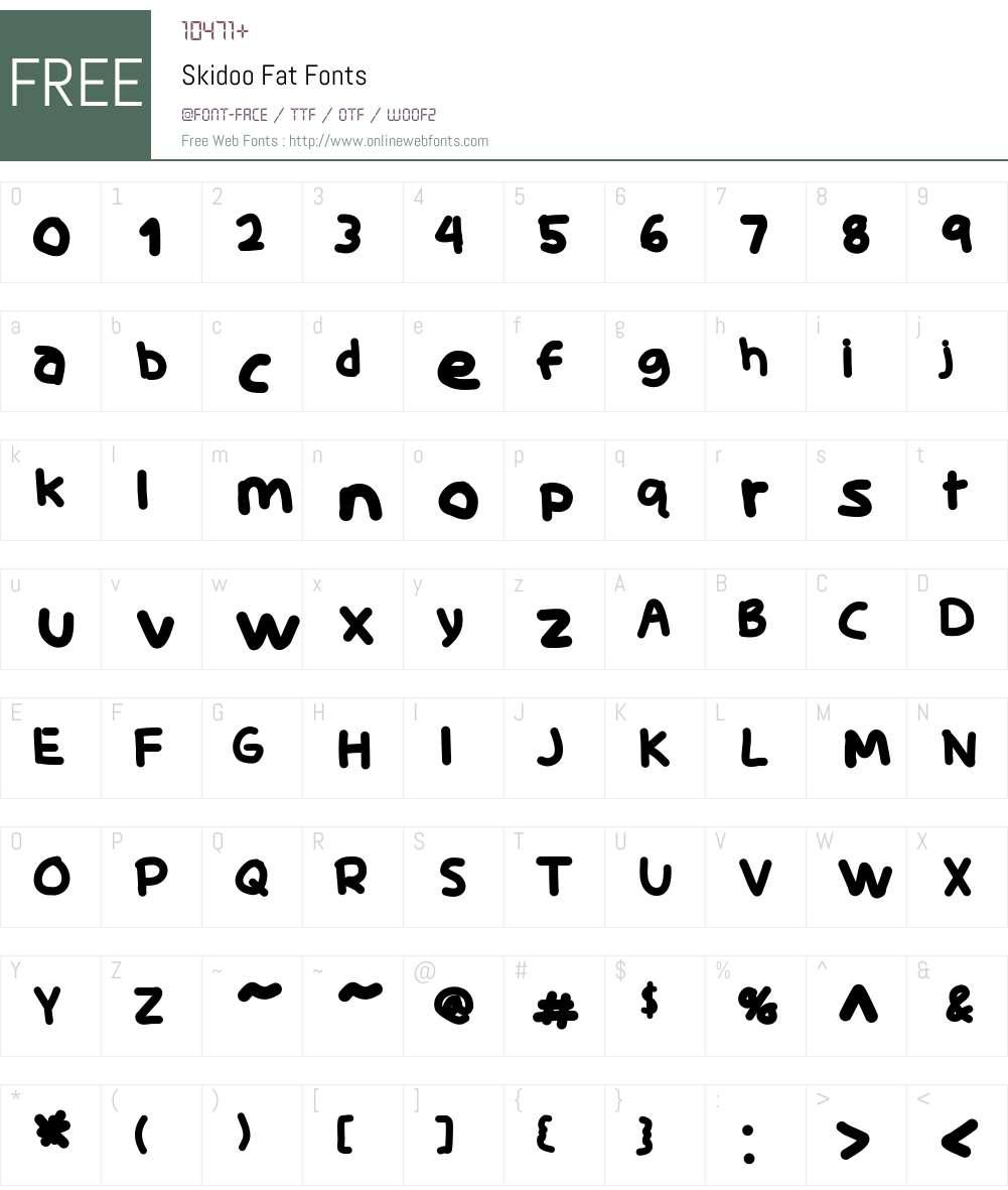 Skidoo Font Screenshots