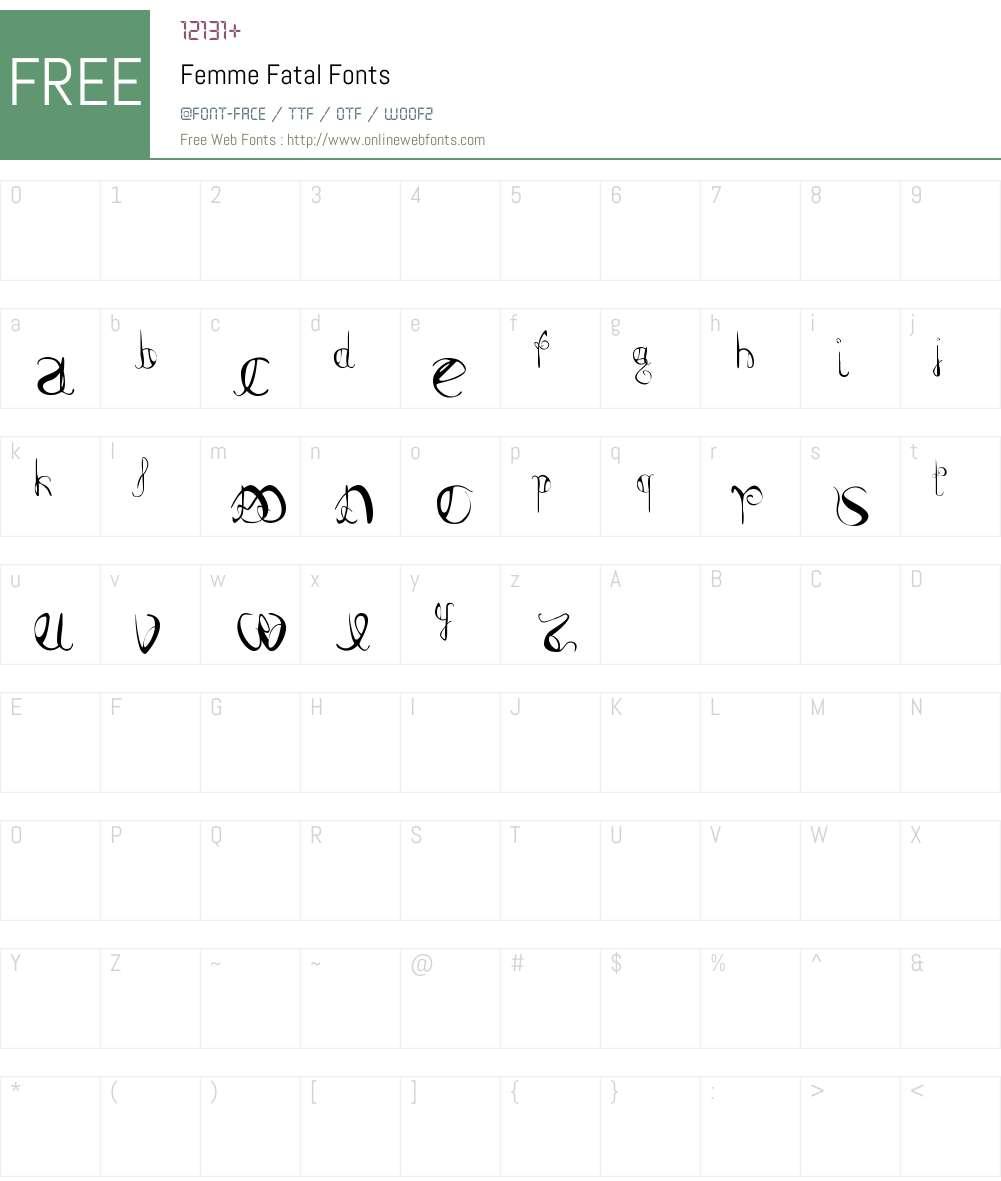 Femme Fatal Font Screenshots