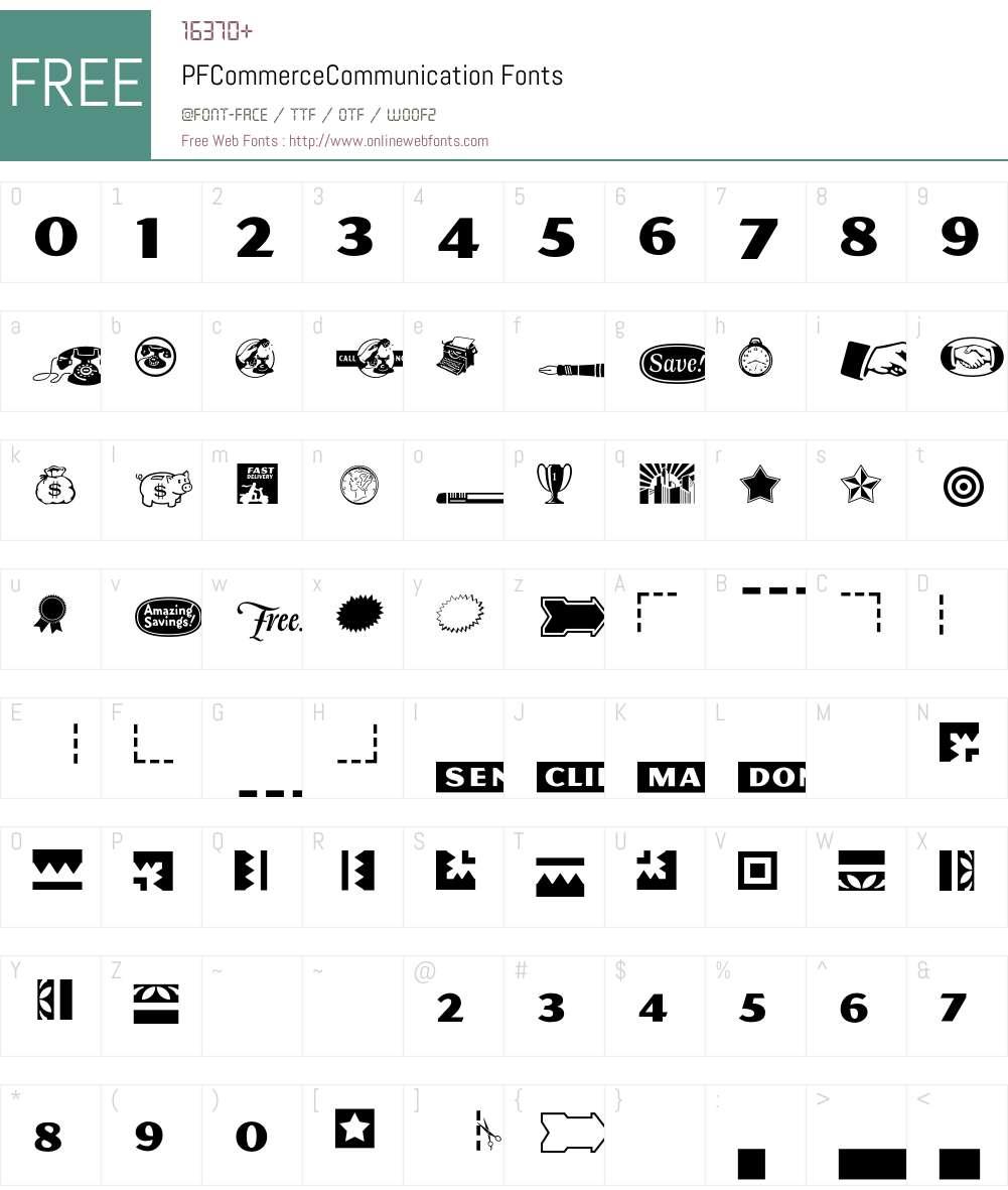 P Font Screenshots