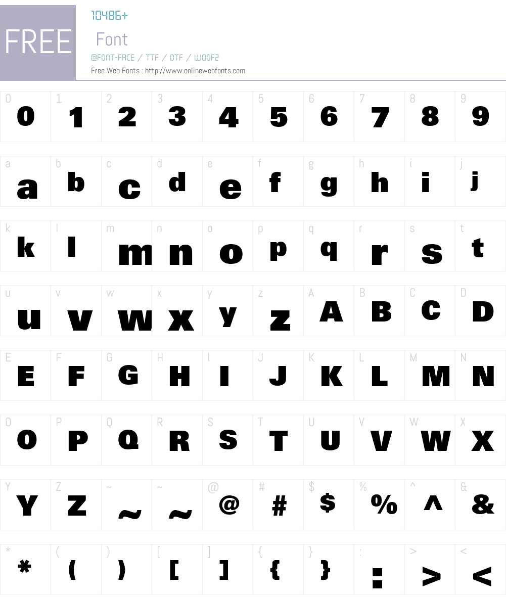 UniversLTW01-85ExtraBlack Font Screenshots