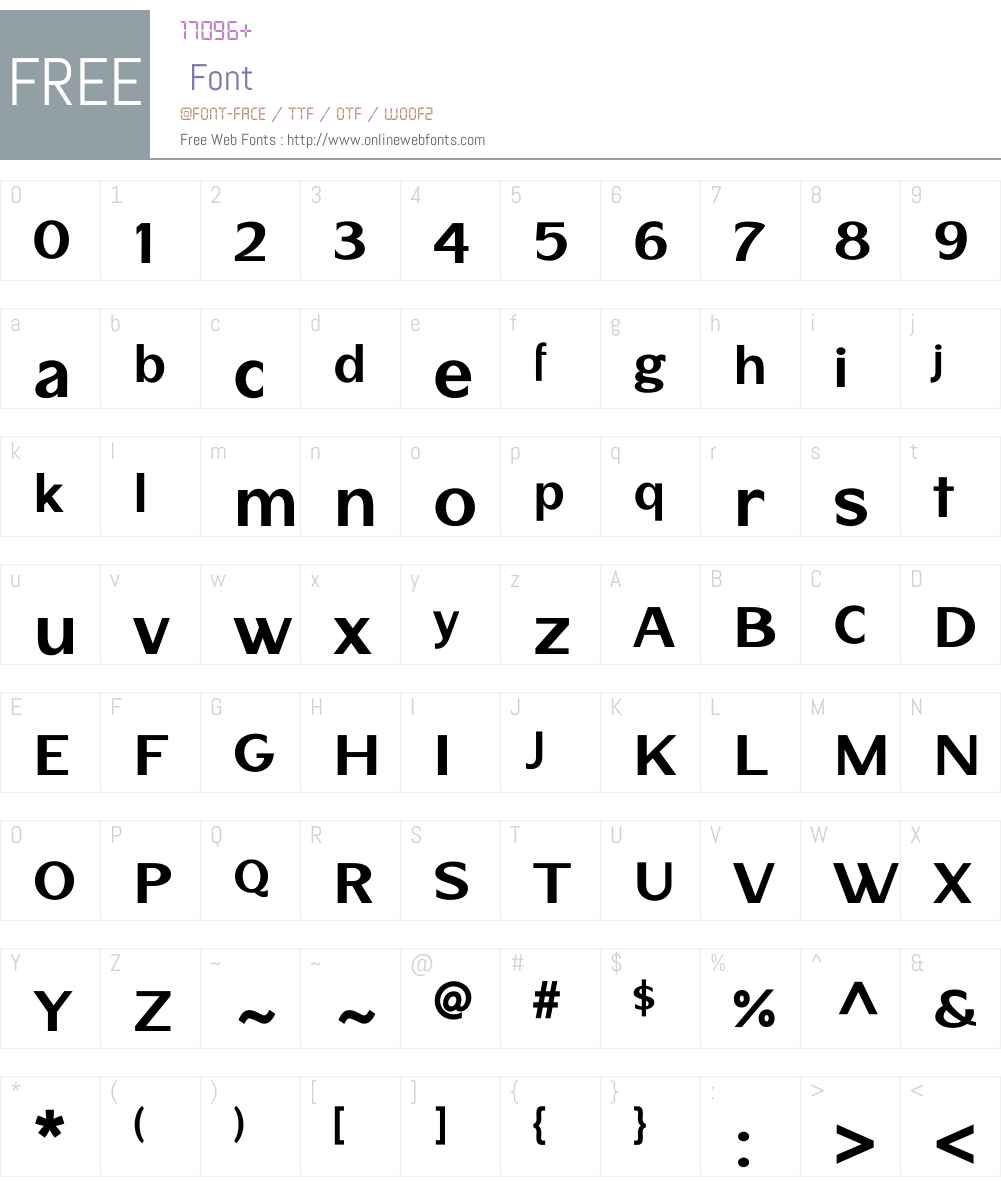 Stratham Font Screenshots