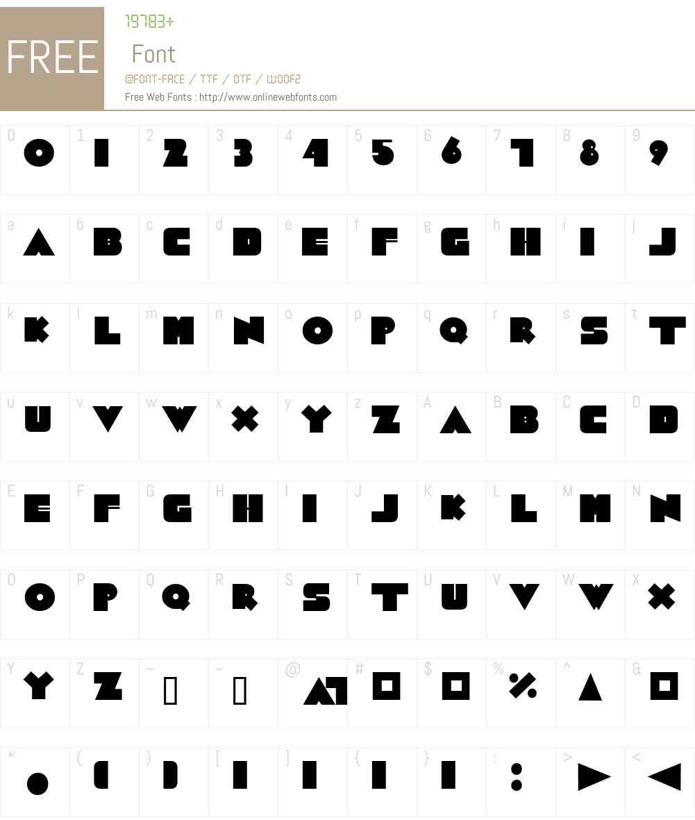 GrubaBerta Font Screenshots