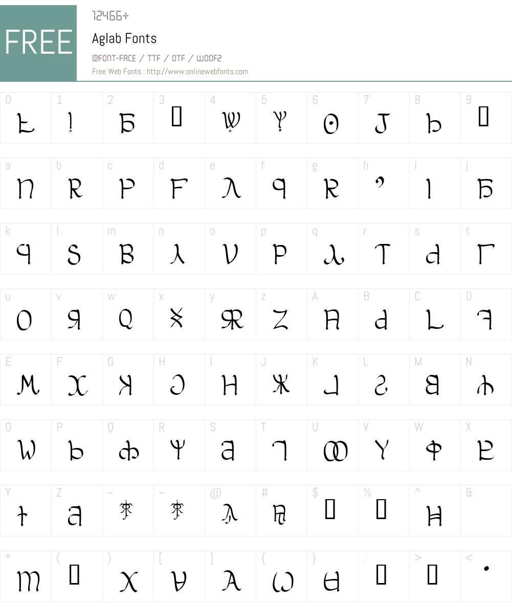 Aglab Font Screenshots
