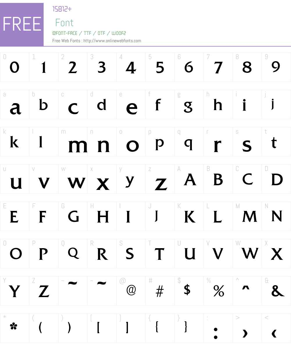 Quadrat-Regular Font Screenshots