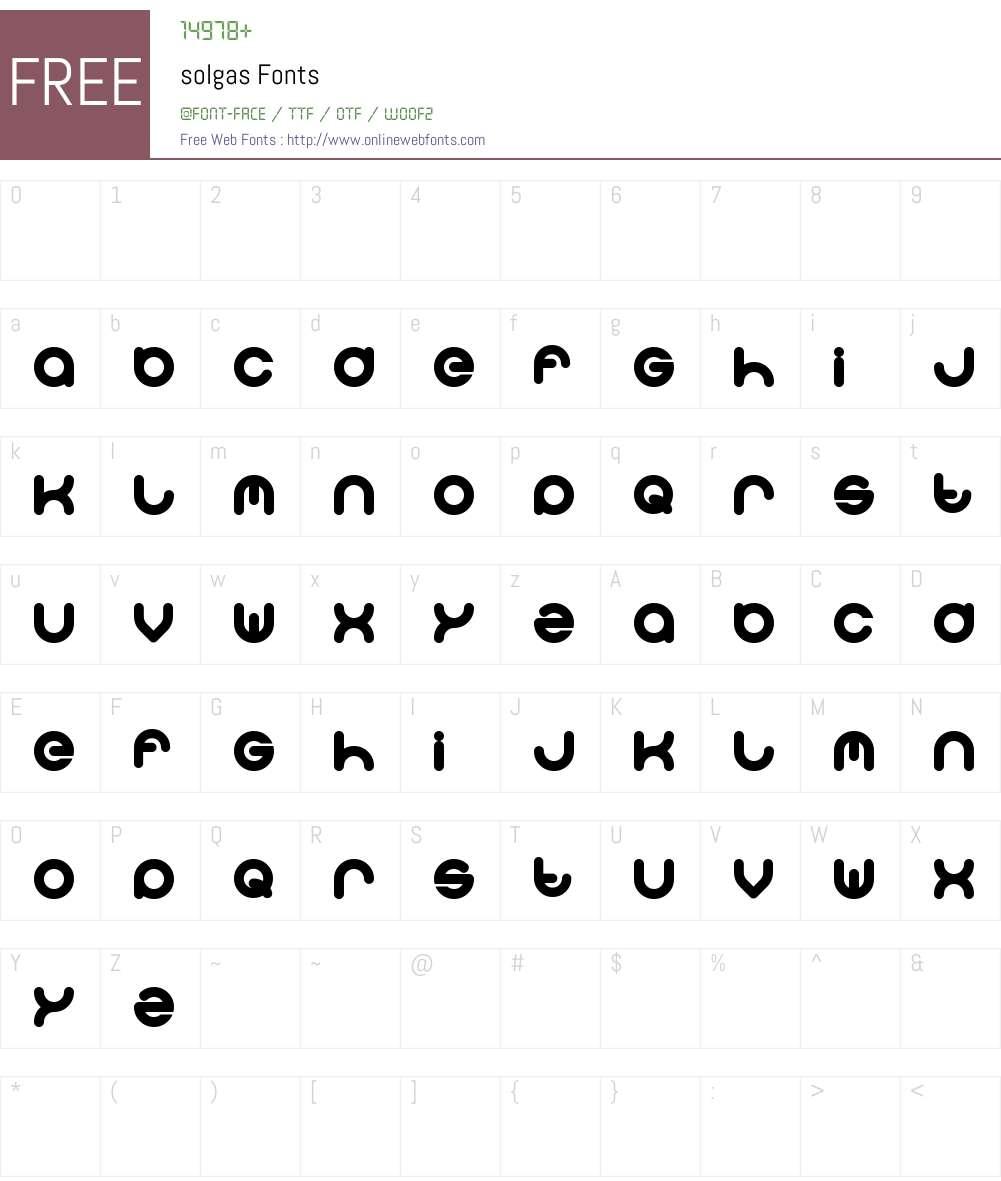 solgas Font Screenshots