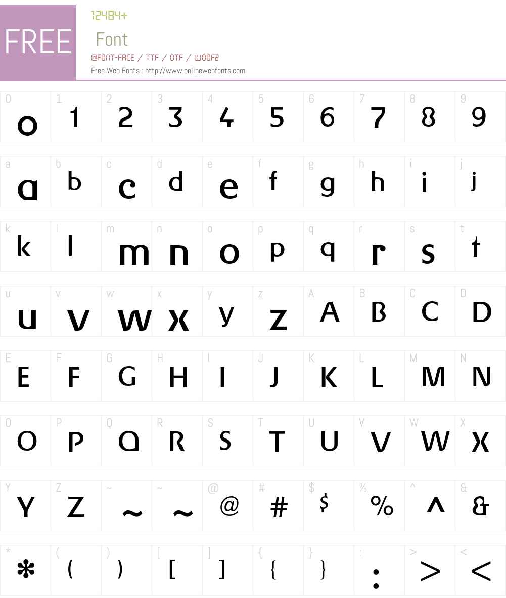 Gerstner BQ Font Screenshots