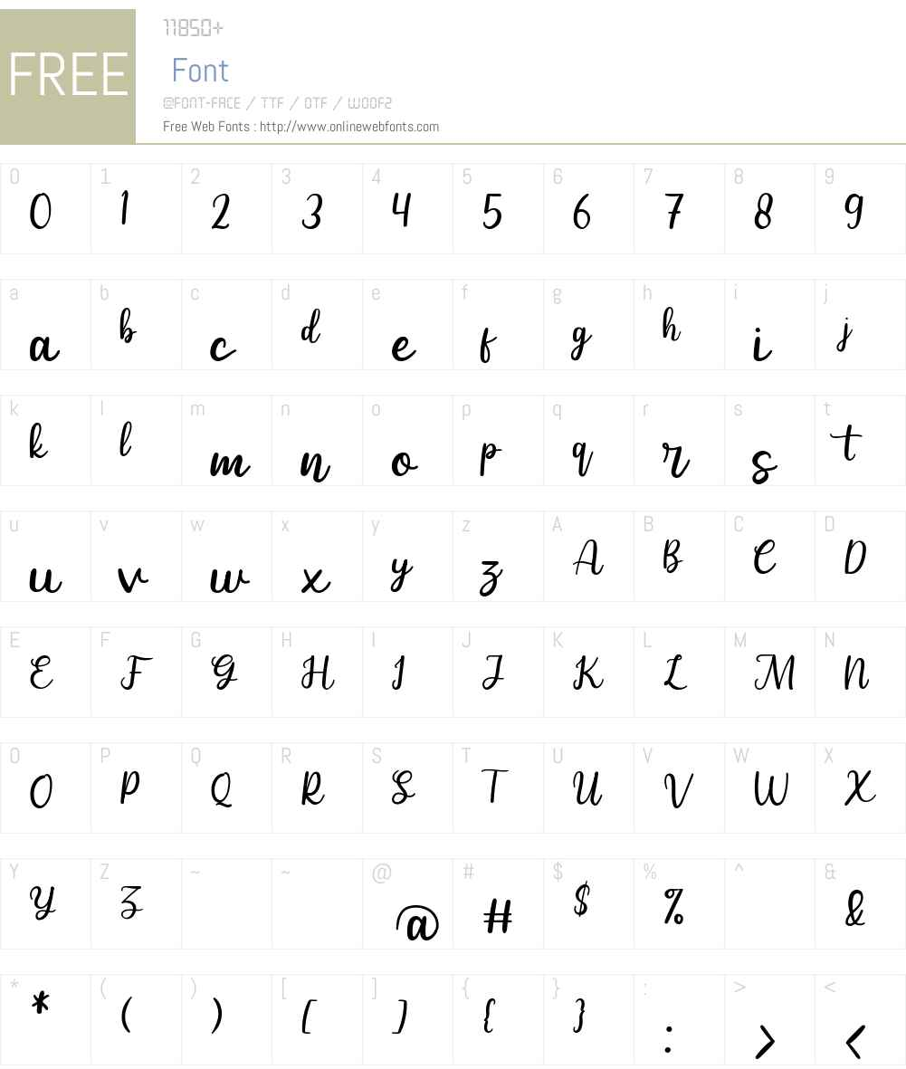 Selldon Font Screenshots
