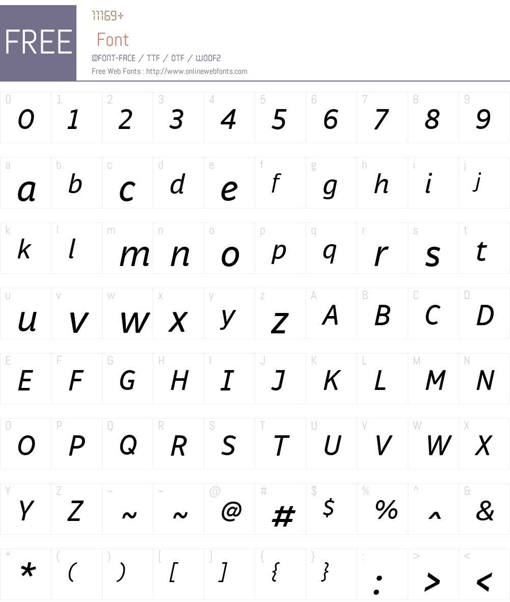 RespublikaFYW01-Italic Font Screenshots