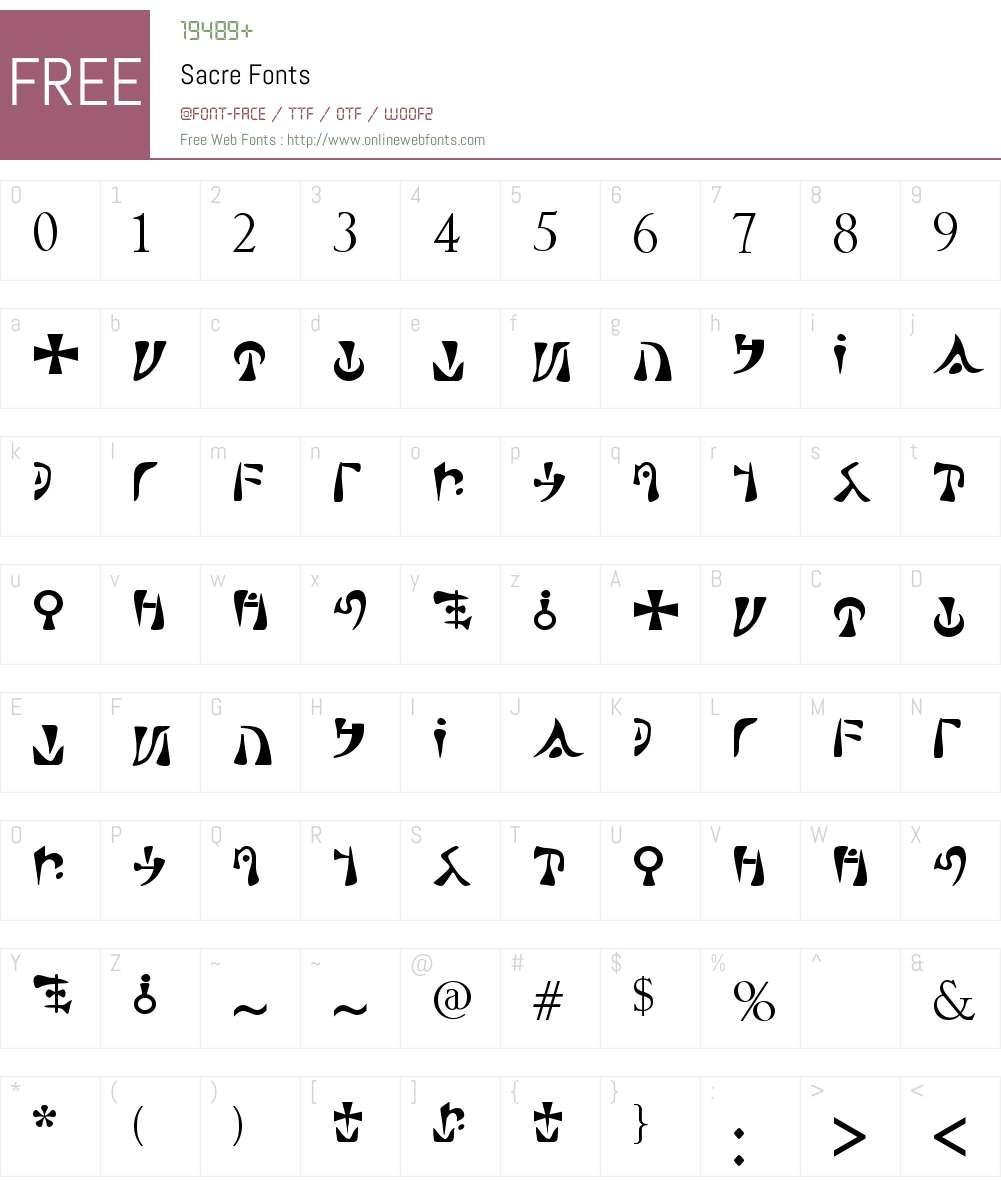 Sacre Font Screenshots