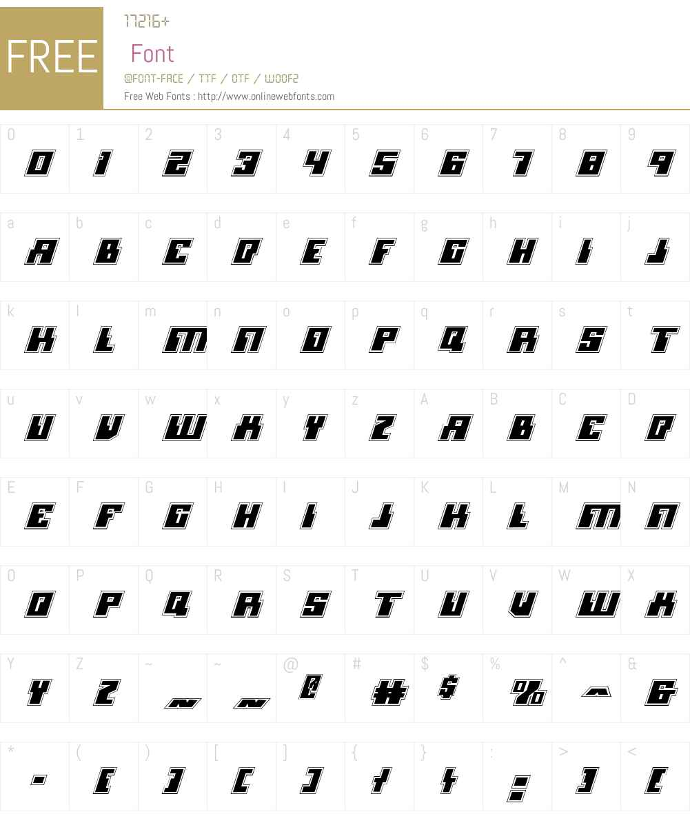 Micronian Academy Italic Font Screenshots