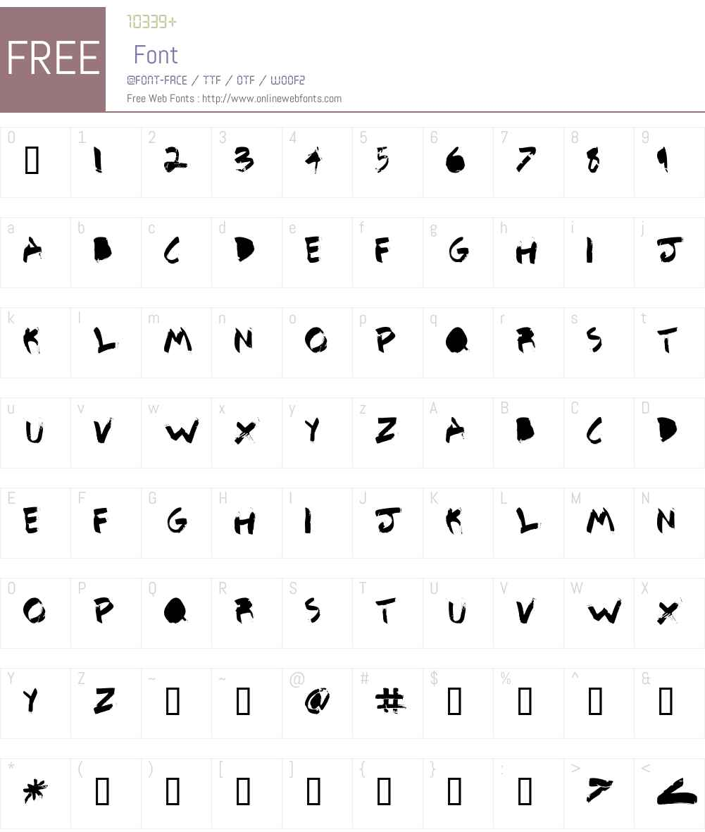 Detail BETA Font Screenshots