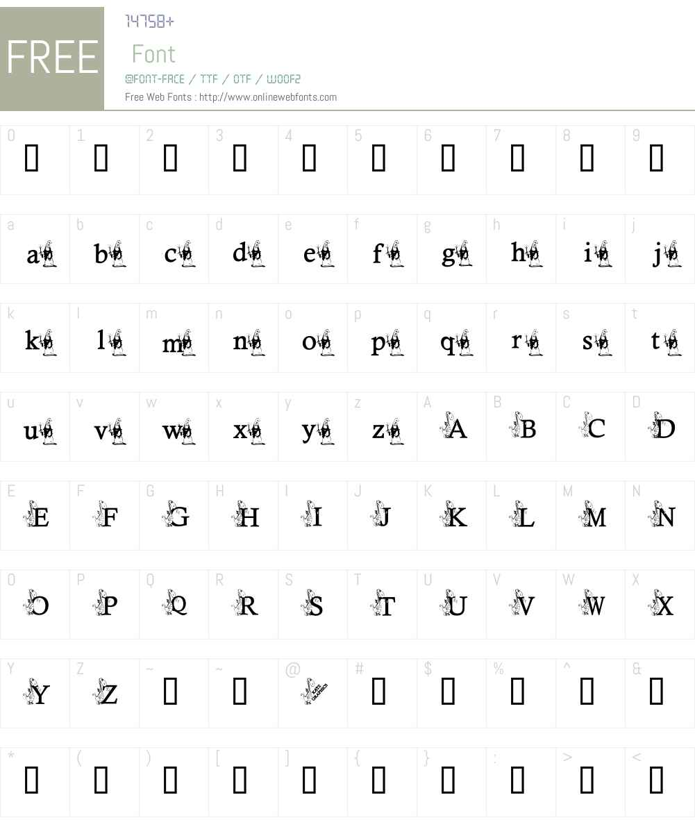 KG DRAGON Font Screenshots