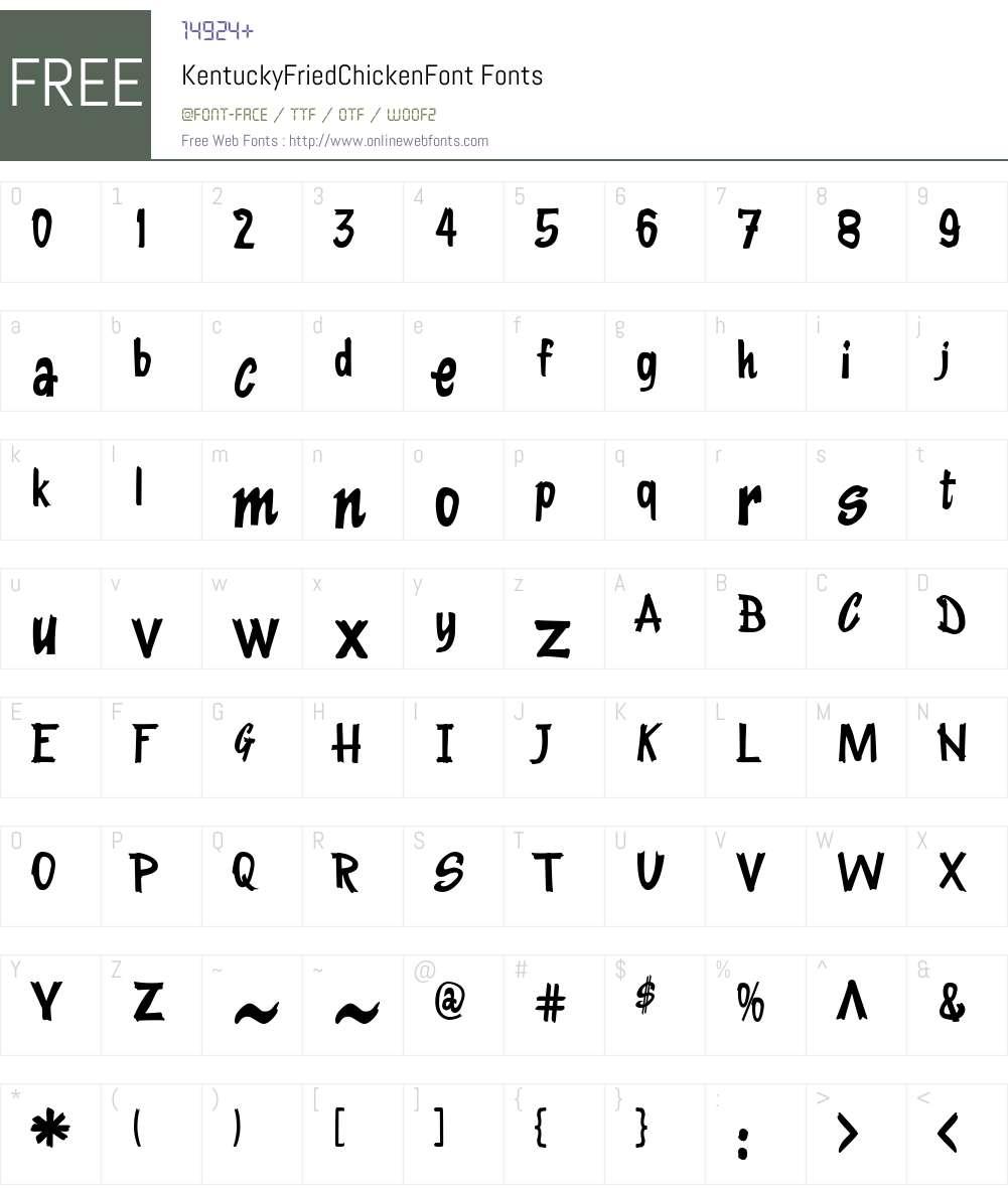KentuckyFriedChickenFont Font Screenshots
