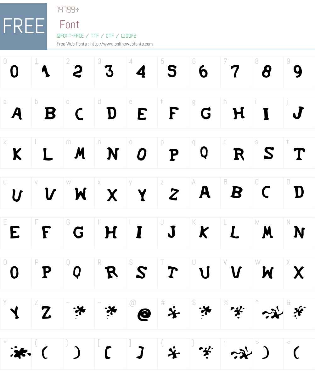 SoupRunny Font Screenshots
