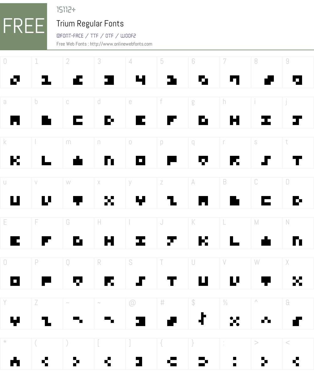 Trium Font Screenshots